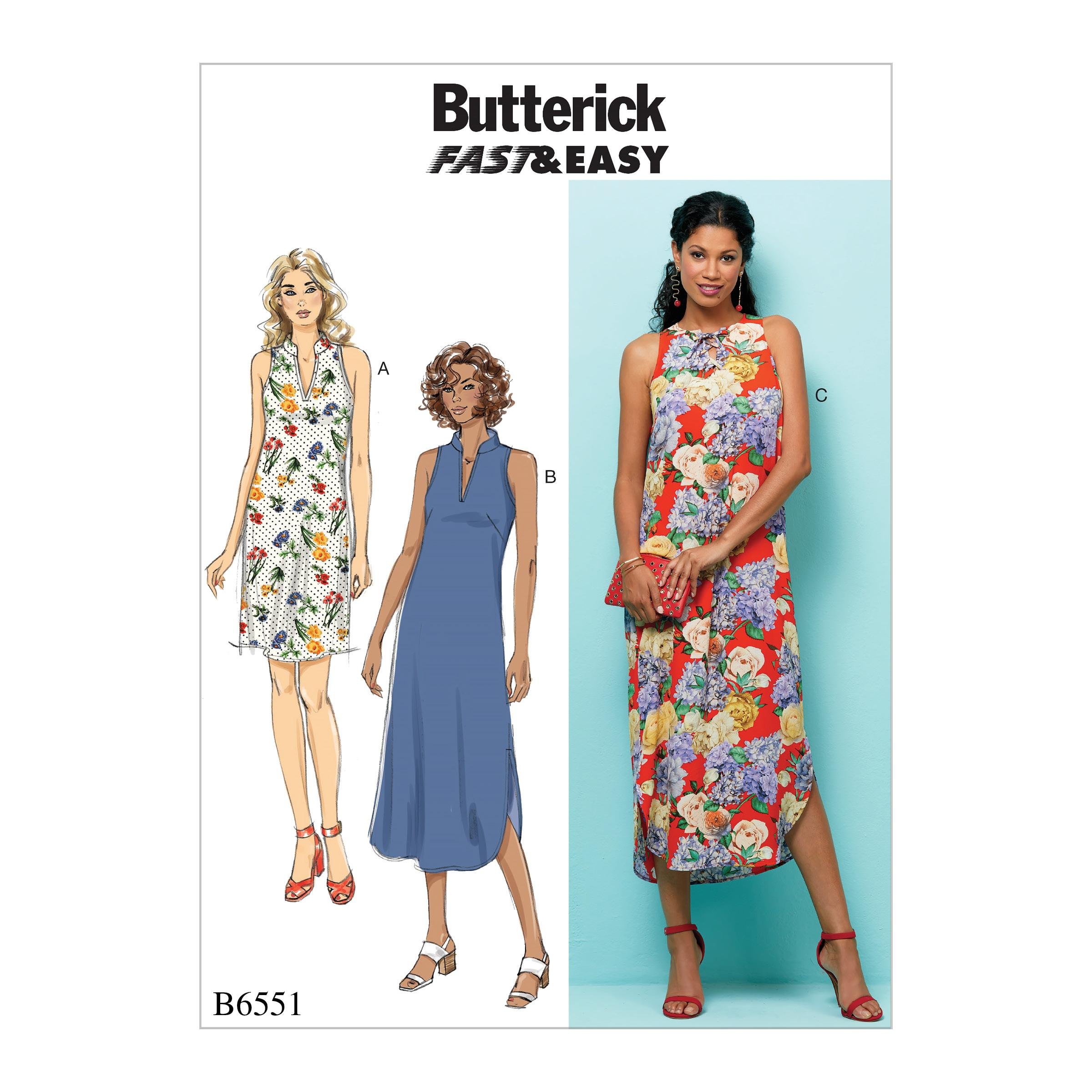 Butterick B6551 Misses' Dress
