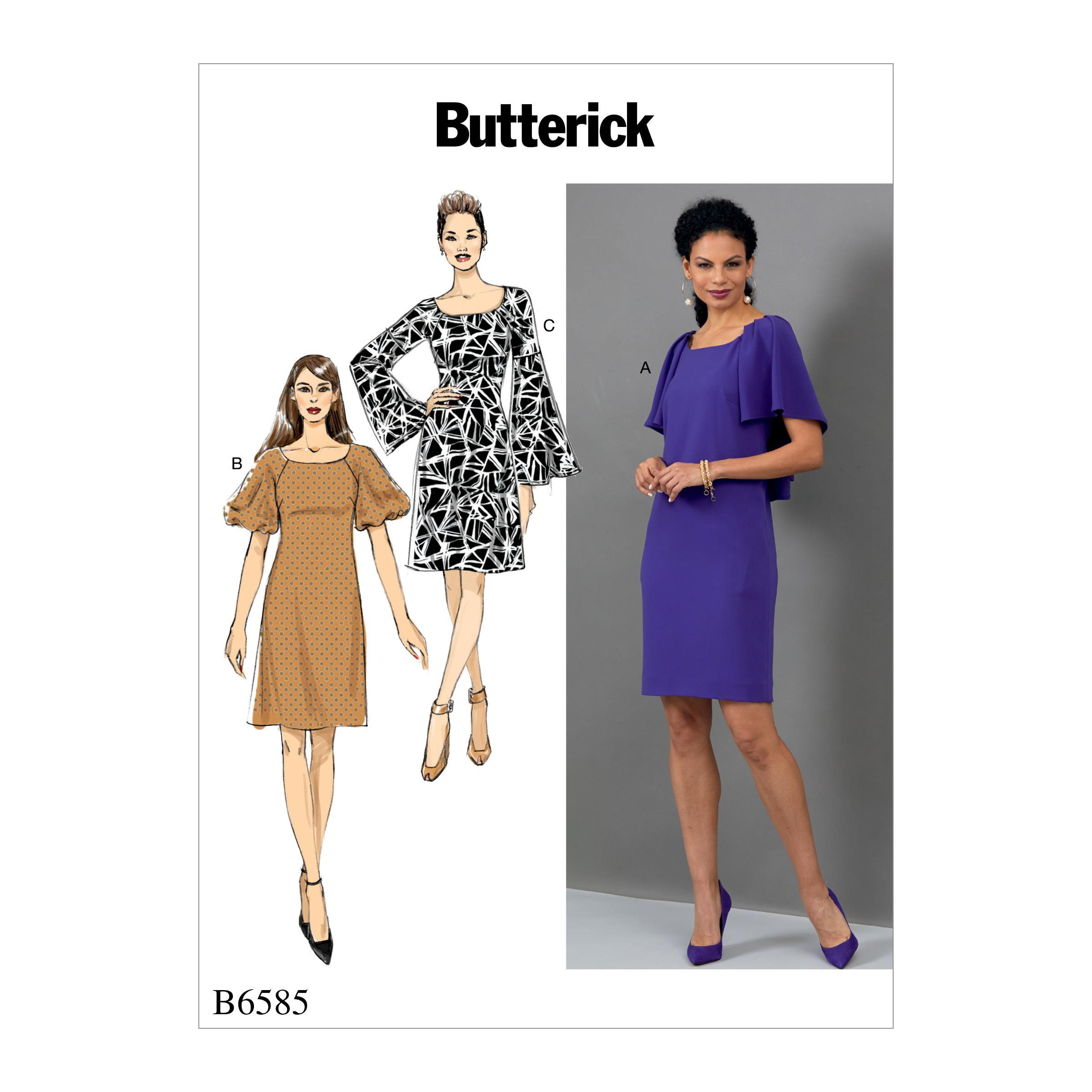 Butterick B6585 Misses' Dress