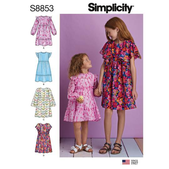 Simplicity S8853 Child's amd Girls' Dress