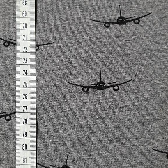 Planes Cotton Jersey
