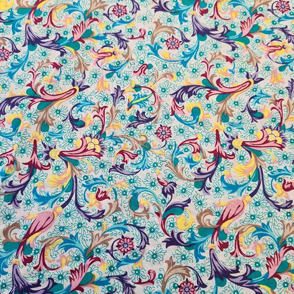 Folk style flowers Cotton Lawn