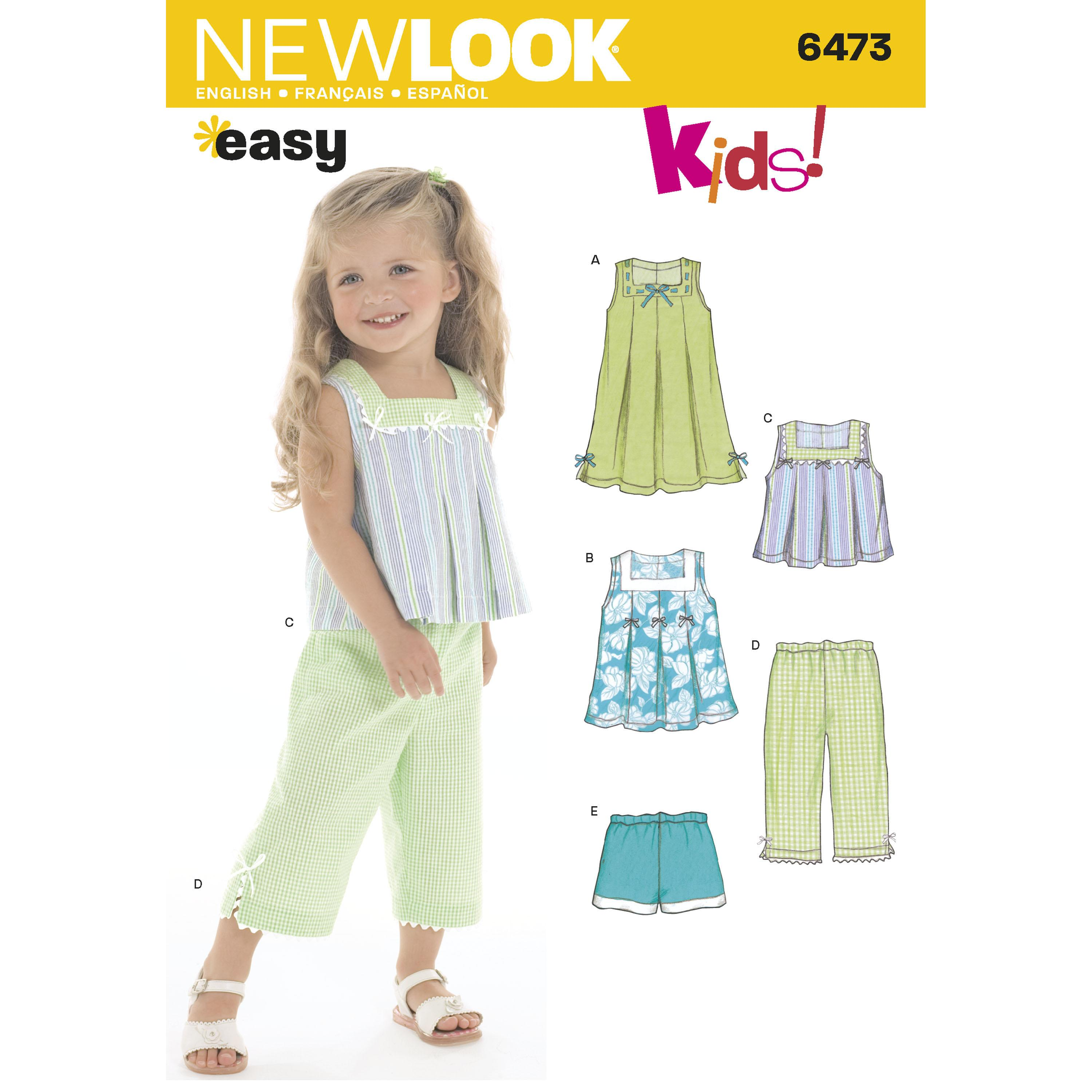 NewLook N6473 Toddler Separates