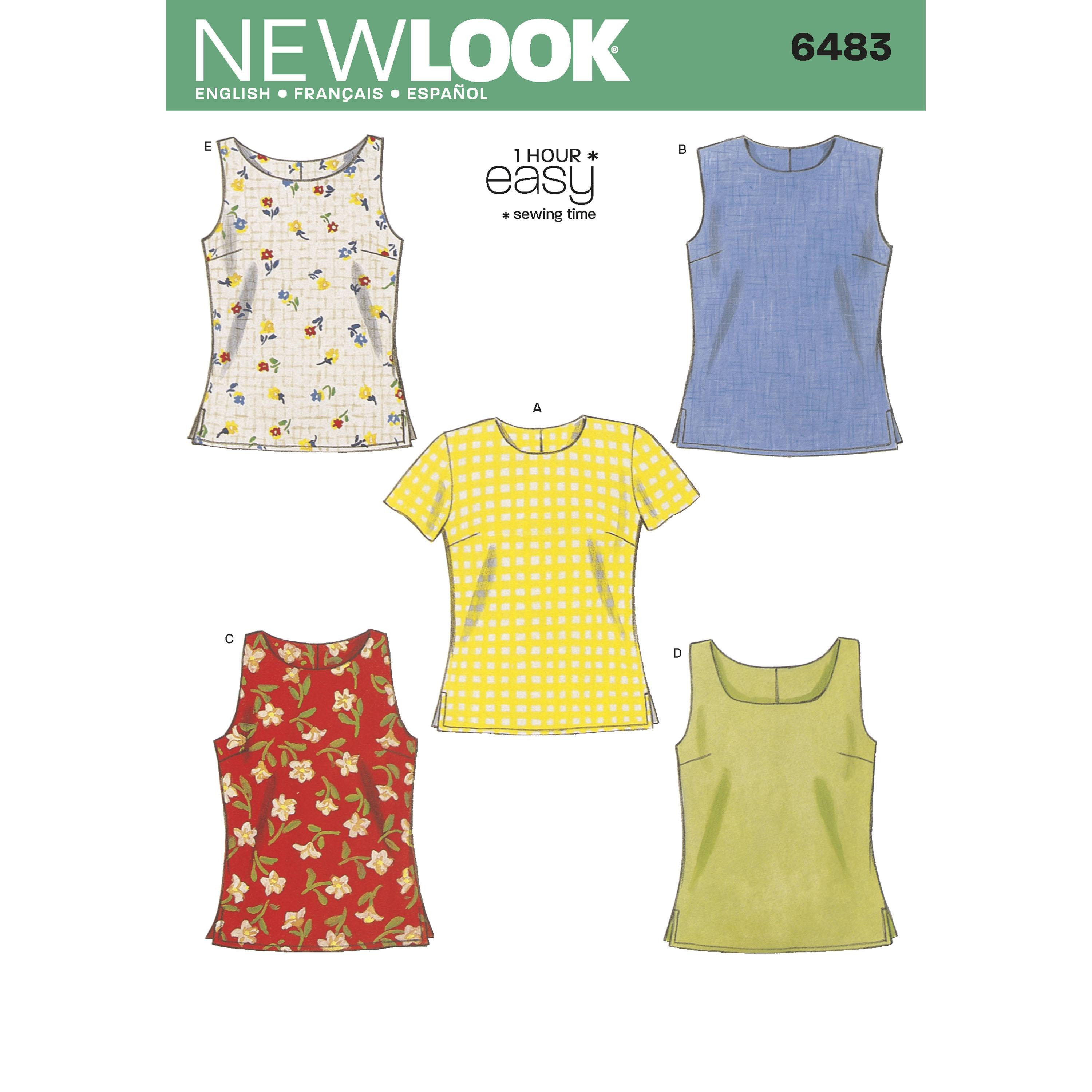 NewLook N6483 Misses Tops