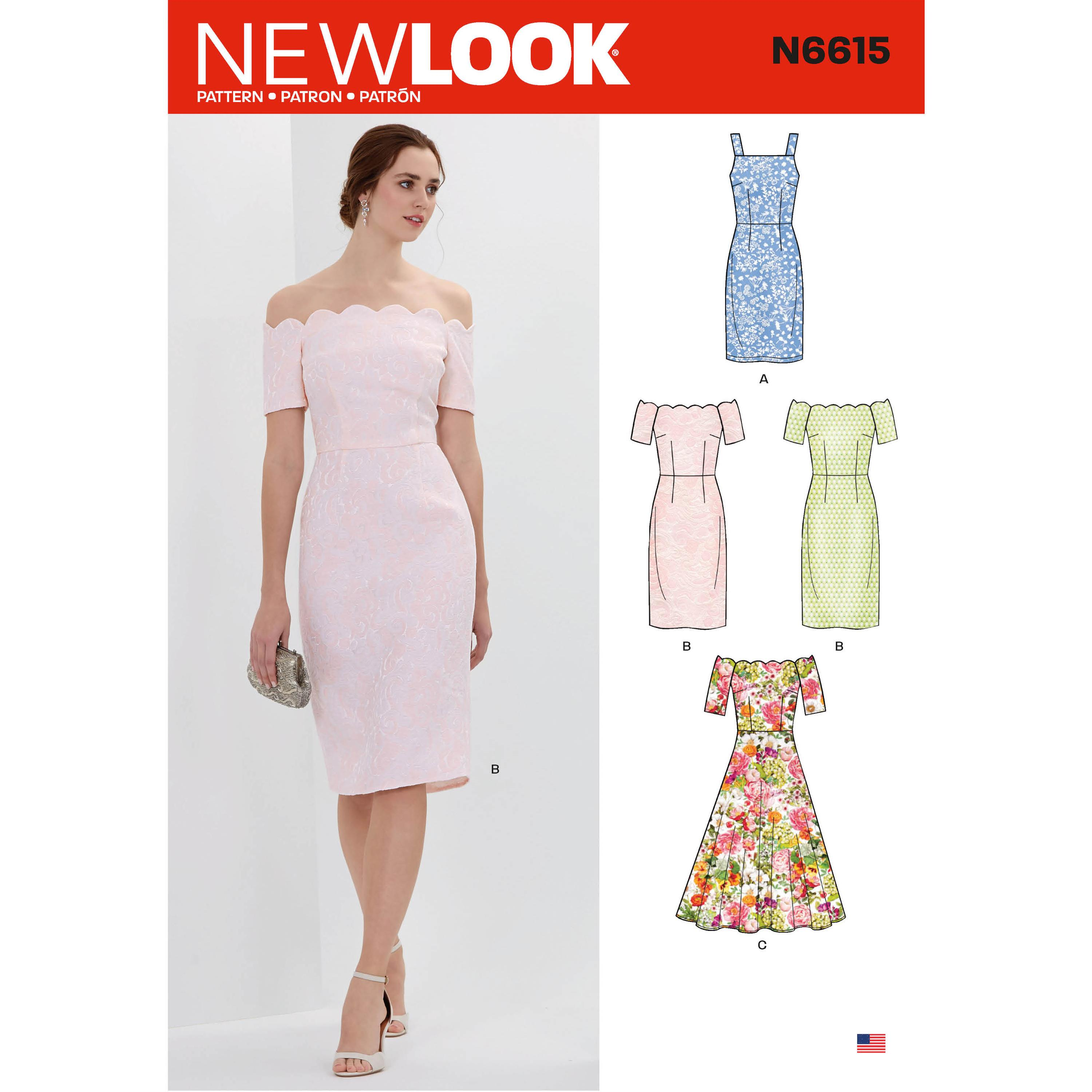NewLook Sewing Pattern N6615 Misses' Dresses