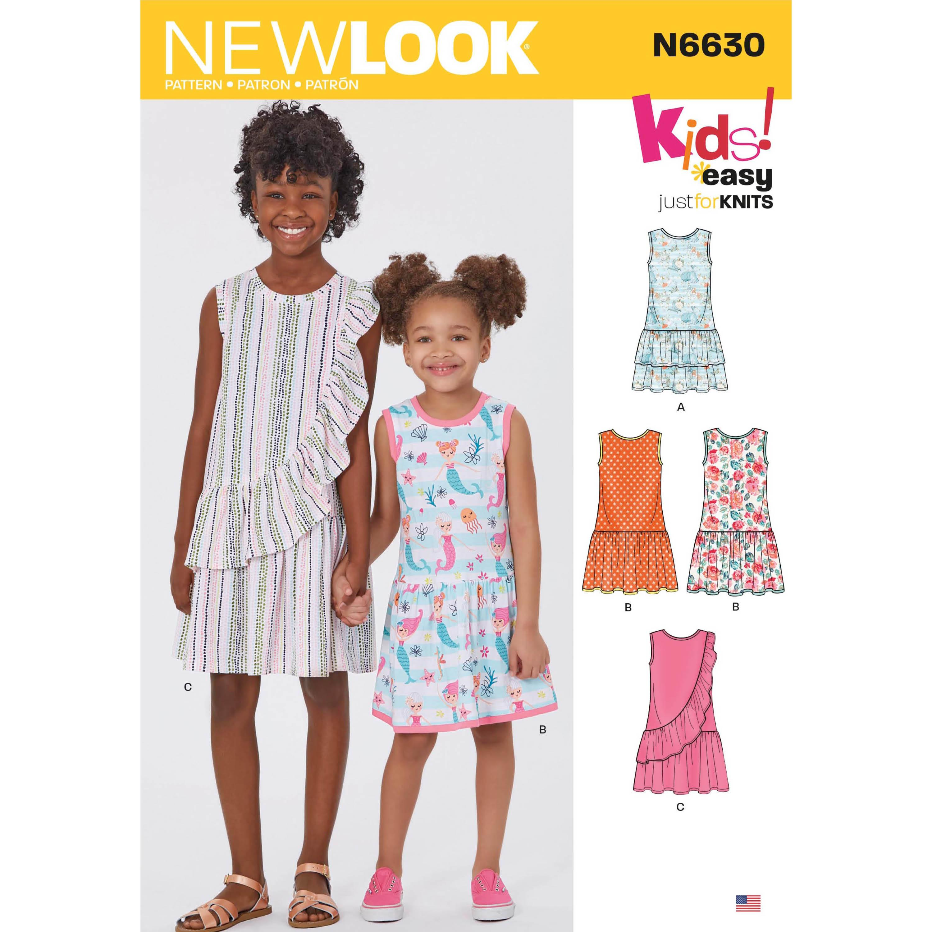 NewLook Sewing Pattern N6630 Children's And Girls' Dresses