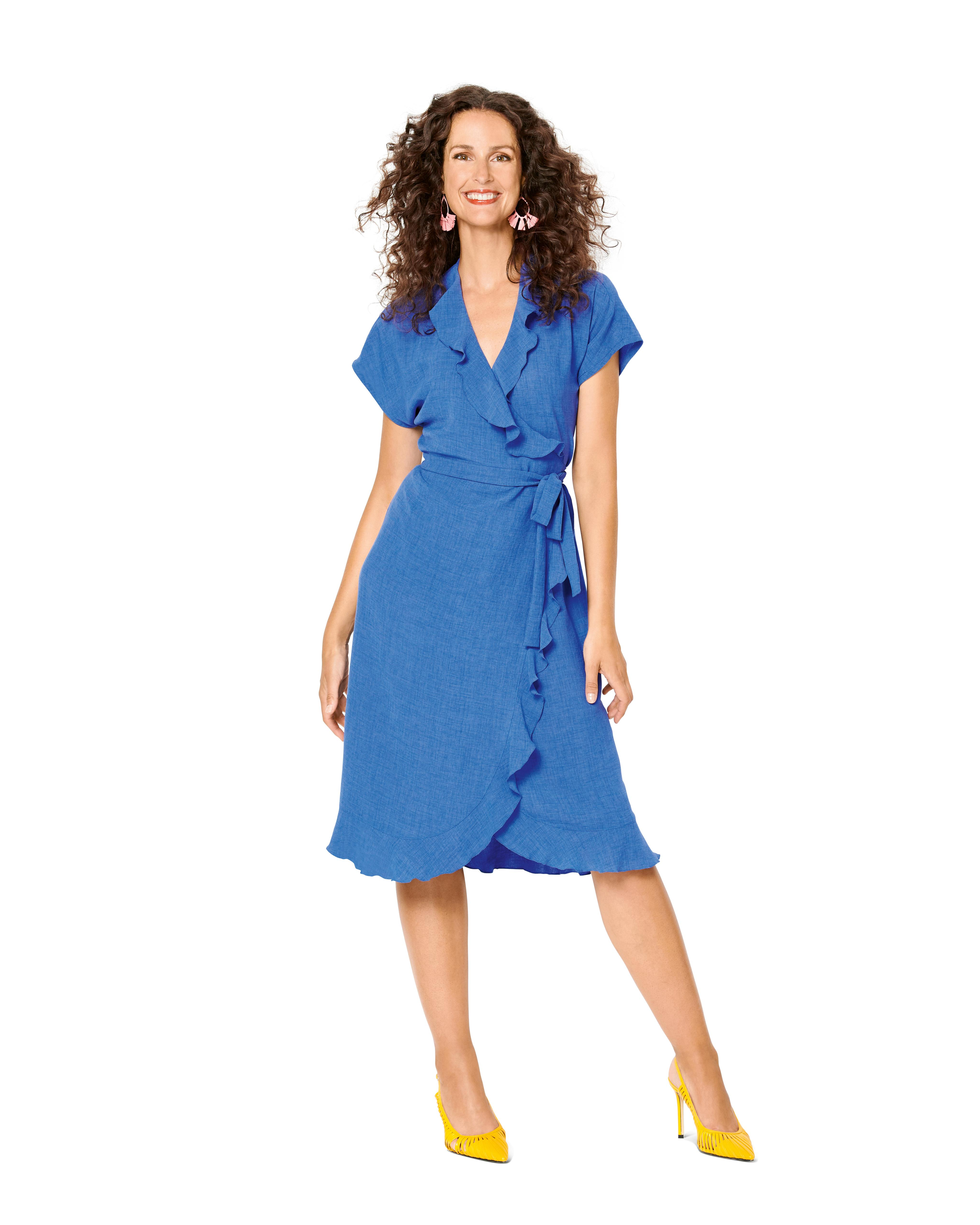 Burda B6207 Wrap Dress with Tie Bands Sewing Pattern