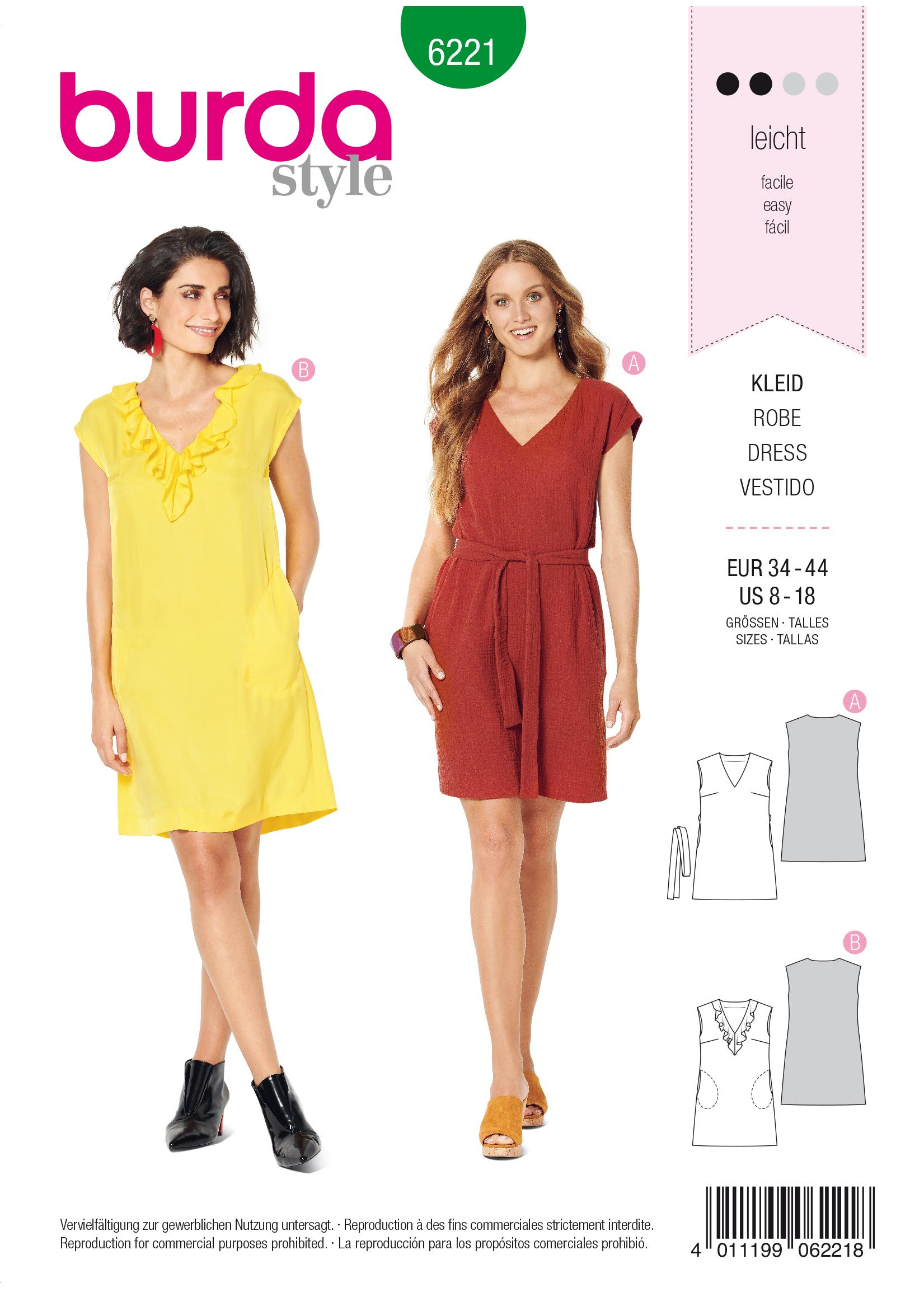 Burda B6221 Dress Sewing Pattern
