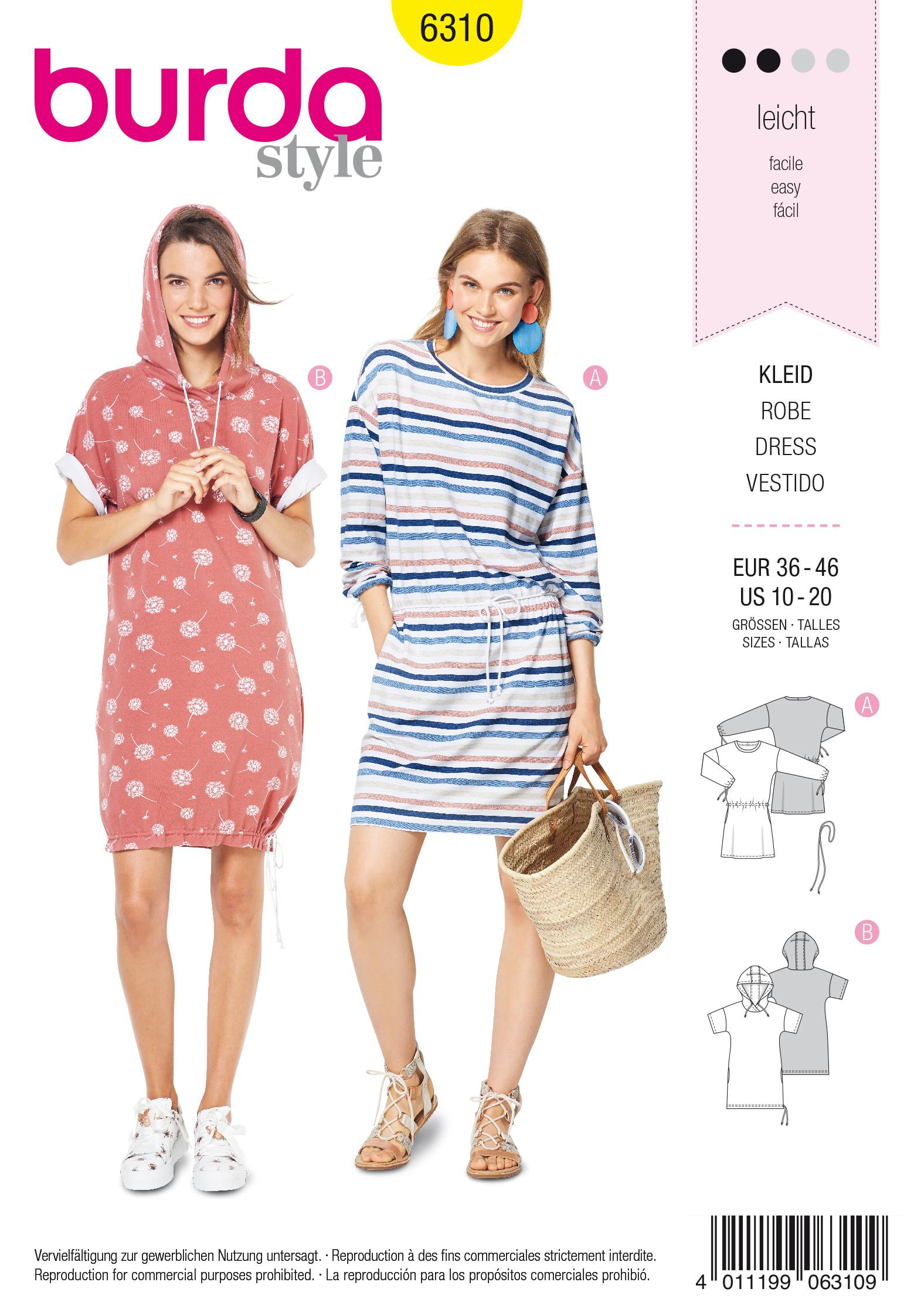 Burda 6310 Misses' shirt dress