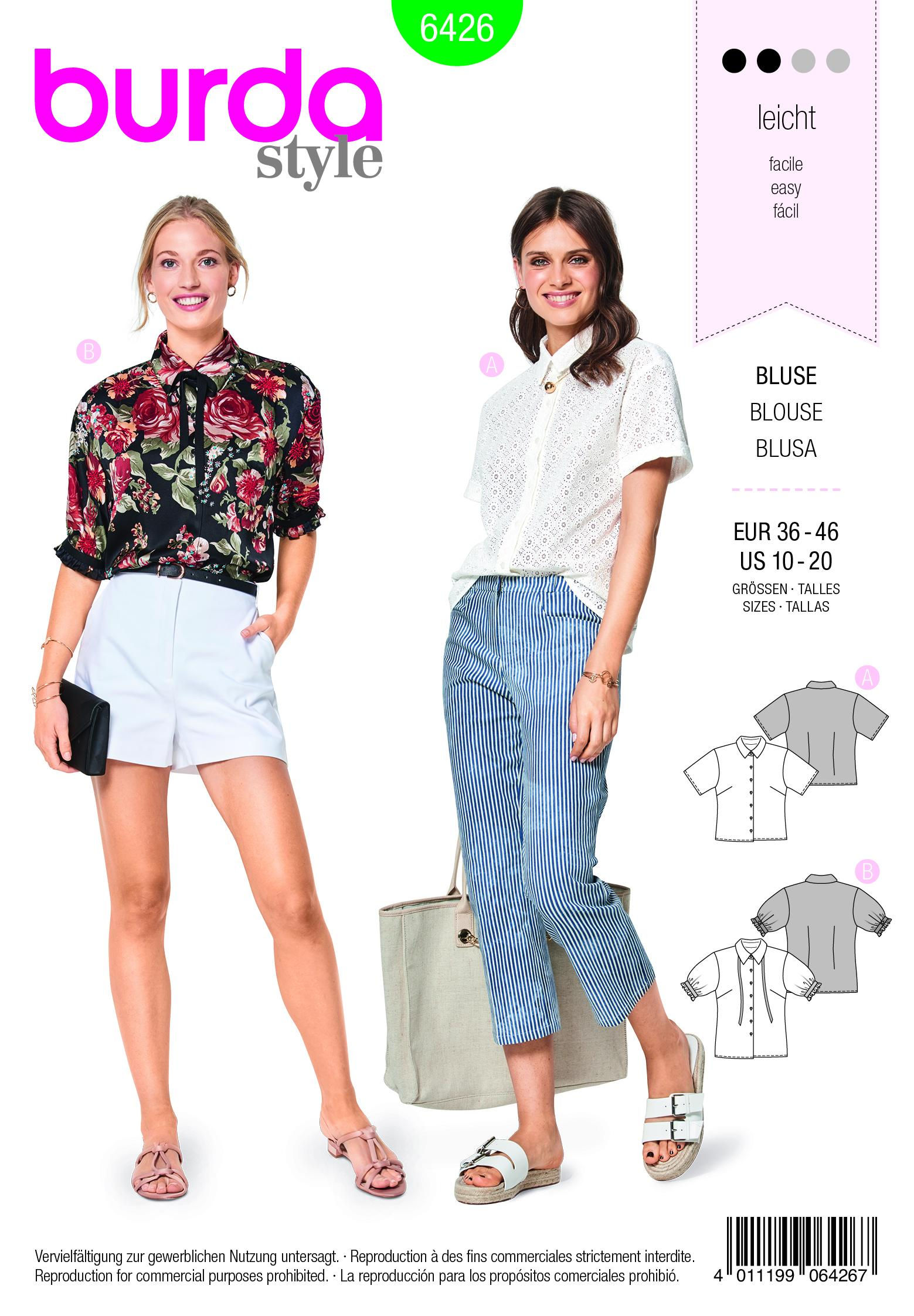 Burda B6426 Misses Fancy Summer Blouses