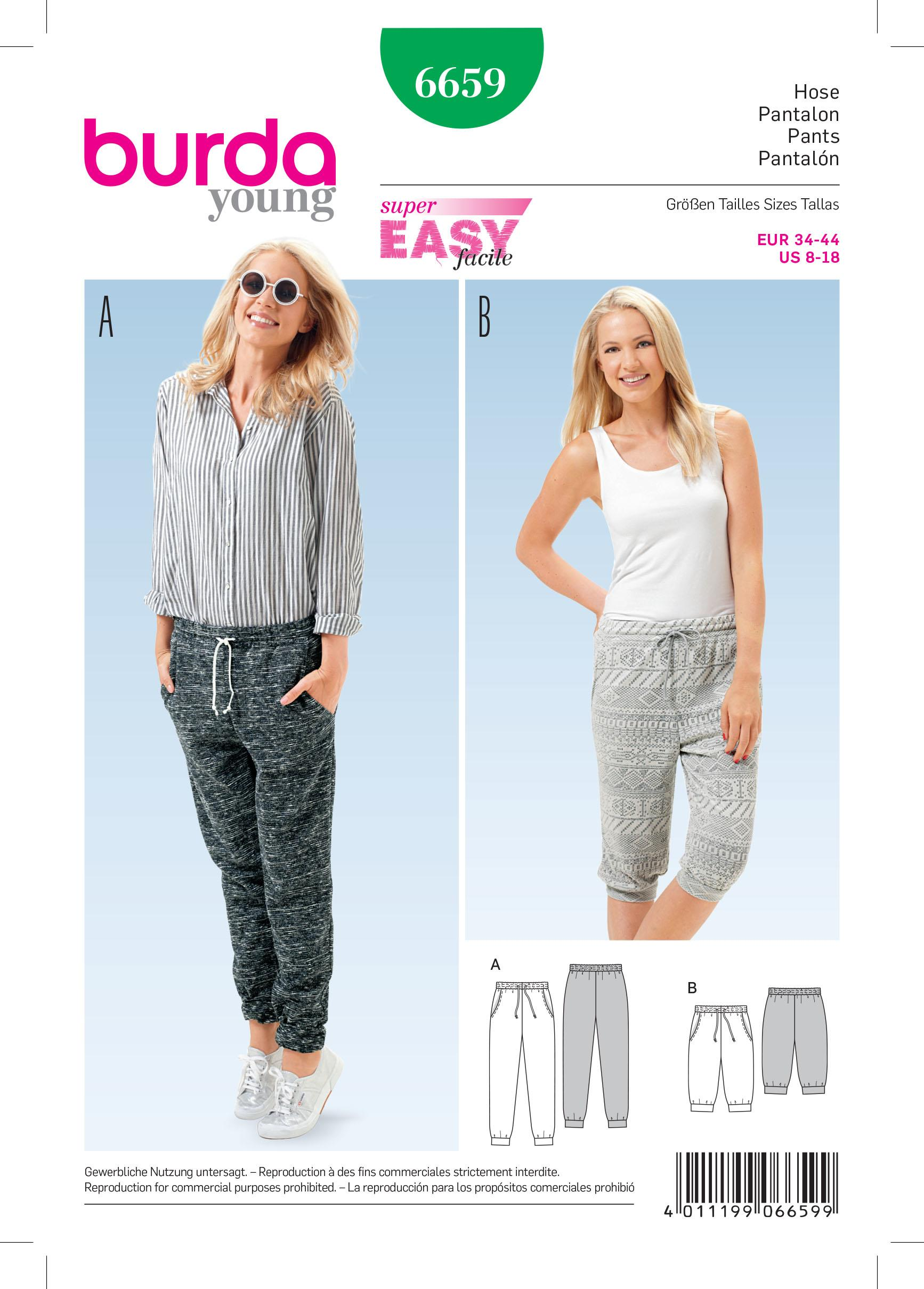 Burda B6659 Women's Trousers Sewing Pattern