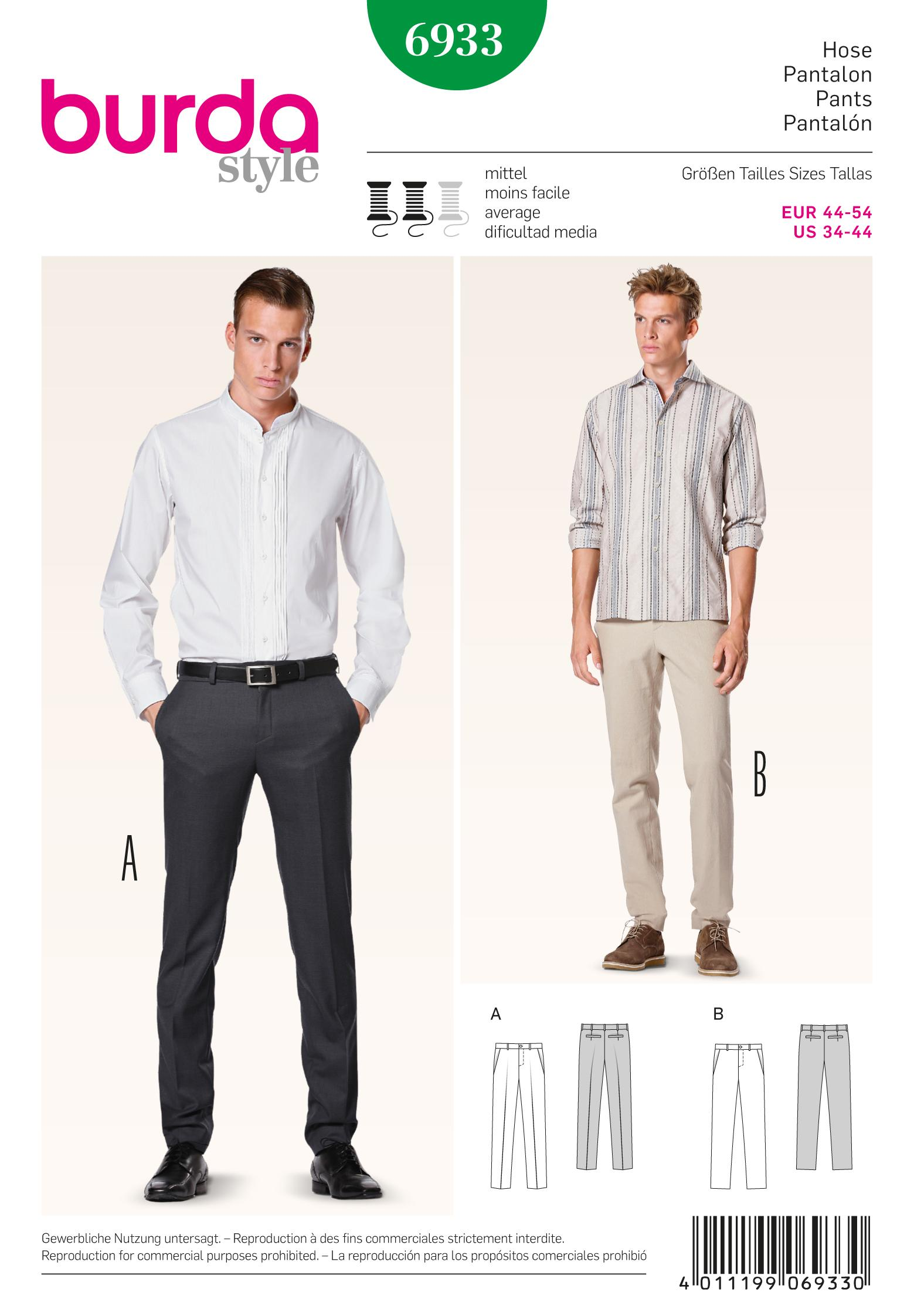 Burda B6933 Burda Menswear Sewing Pattern