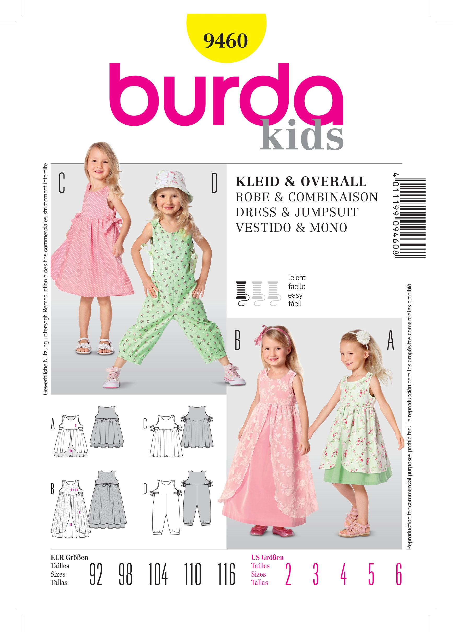 Burda B9460 Dress & Jumpsuit Sewing Pattern