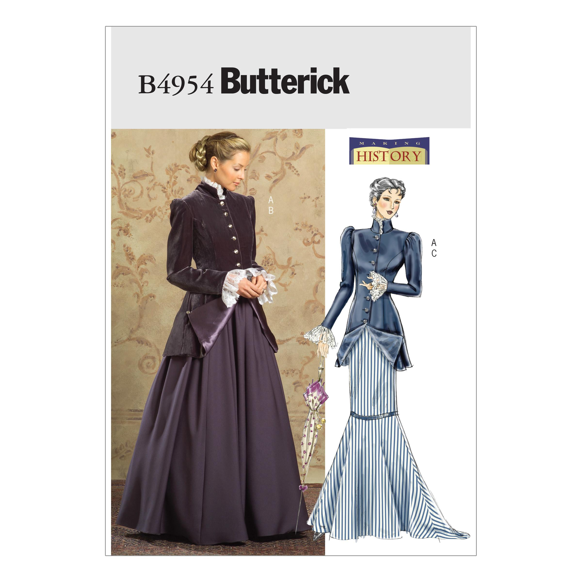 Butterick B4954 Misses'/Misses' Petite Early 20th Century Costume