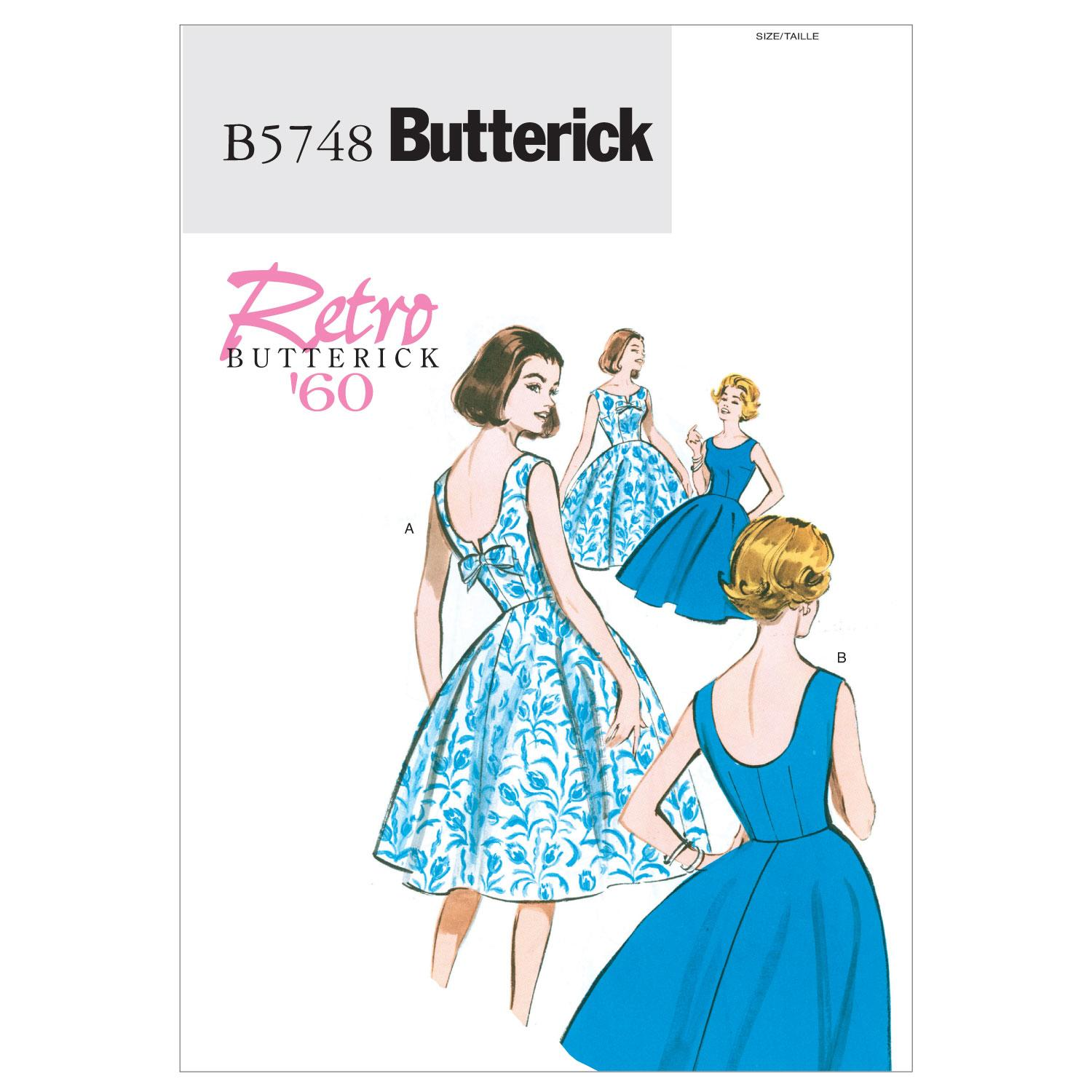 Butterick B5748 Misses'/Misses' Petite Dress
