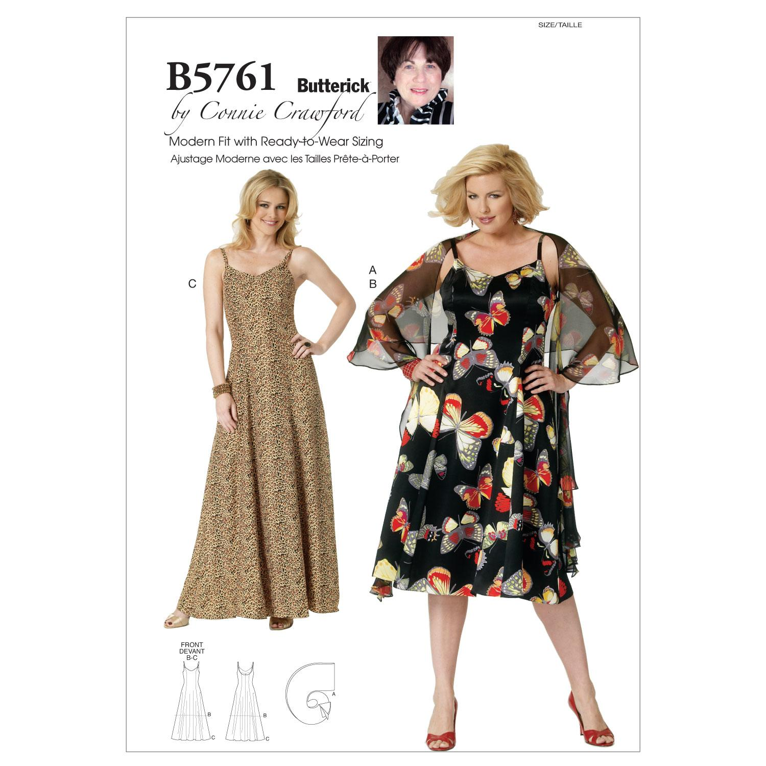 Butterick B5761 Misses'/Women's Wrap and Dress