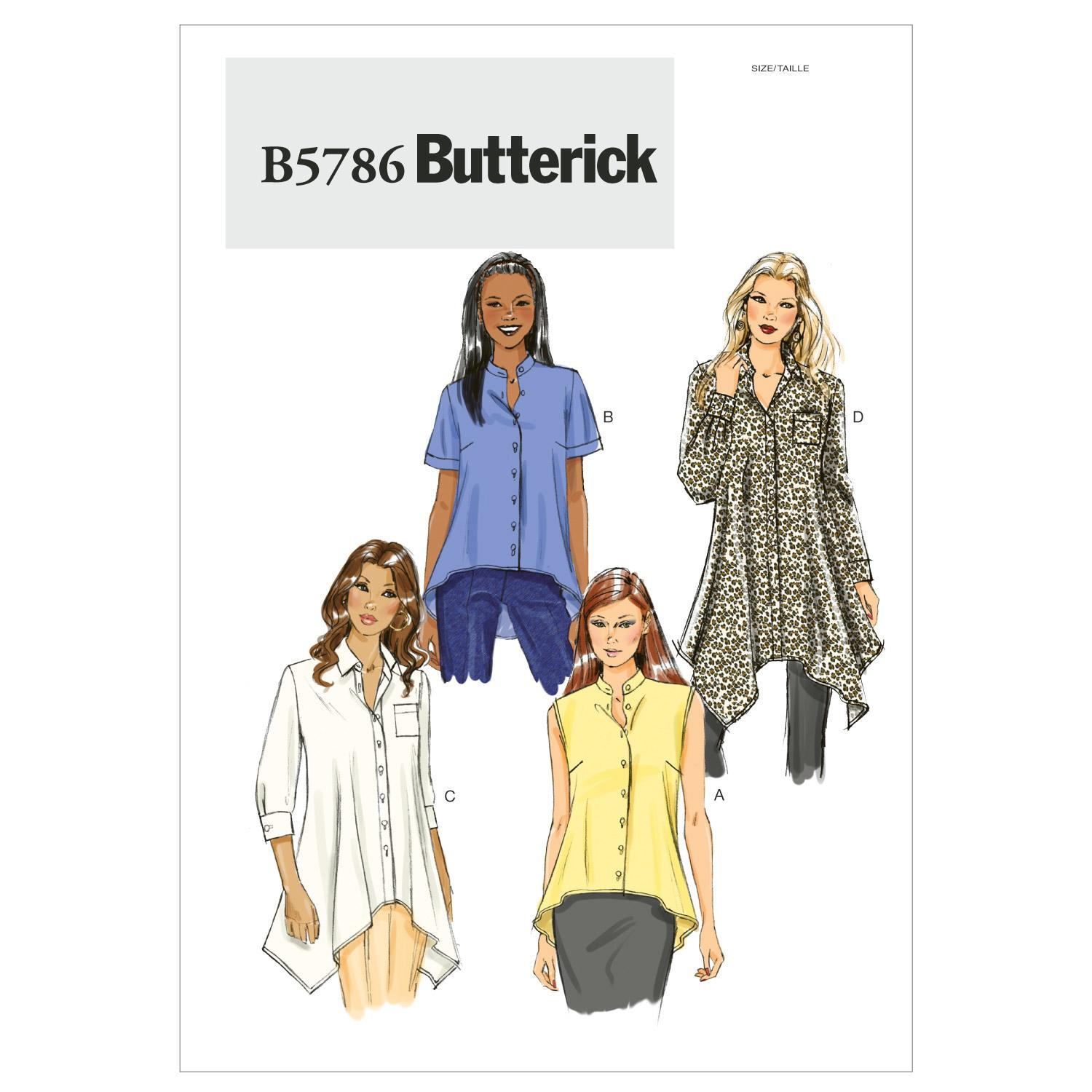Butterick B5786 Misses' Shirt