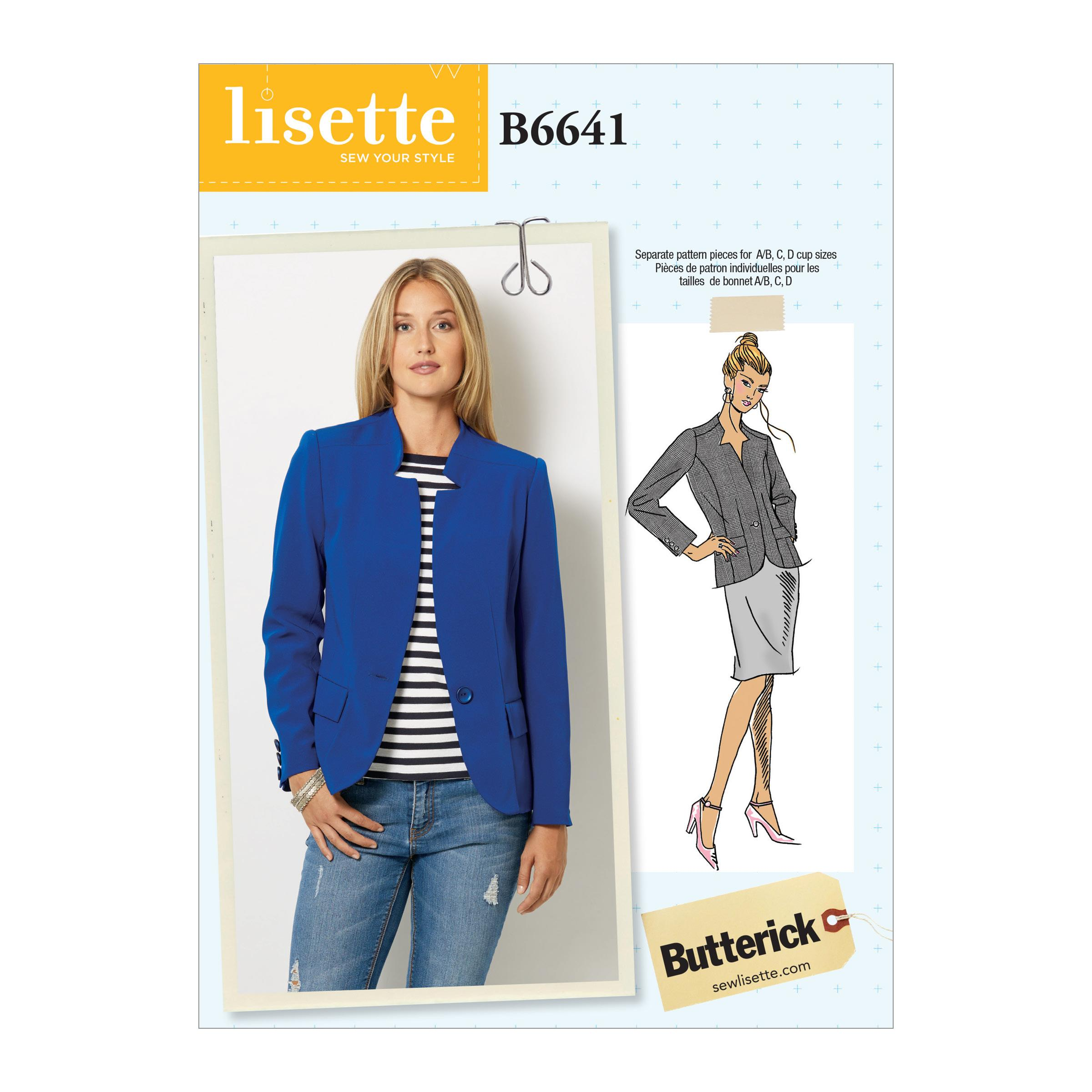 Butterick B6641 Misses' Jacket