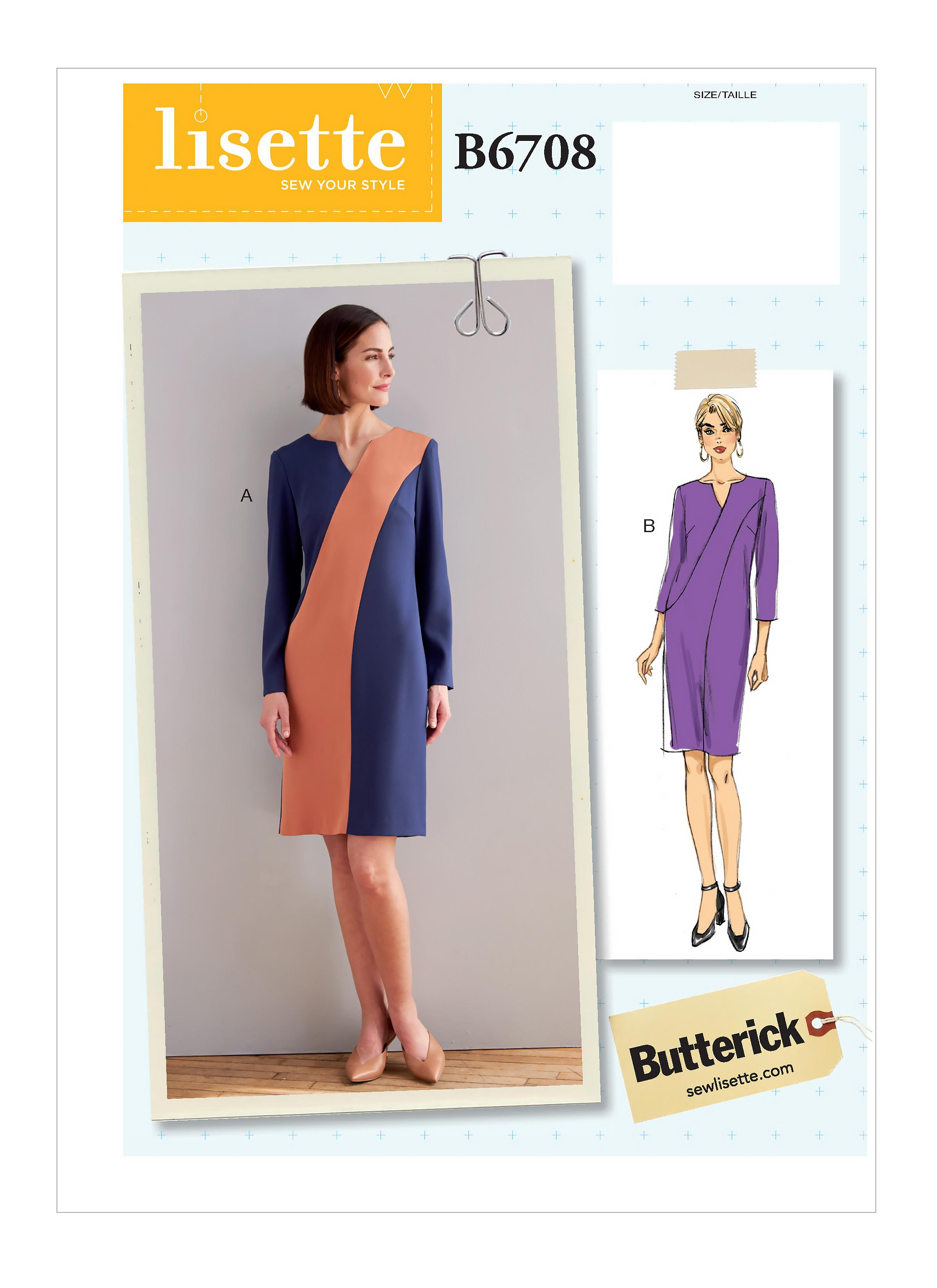 Butterick B6708 Misses' Dress