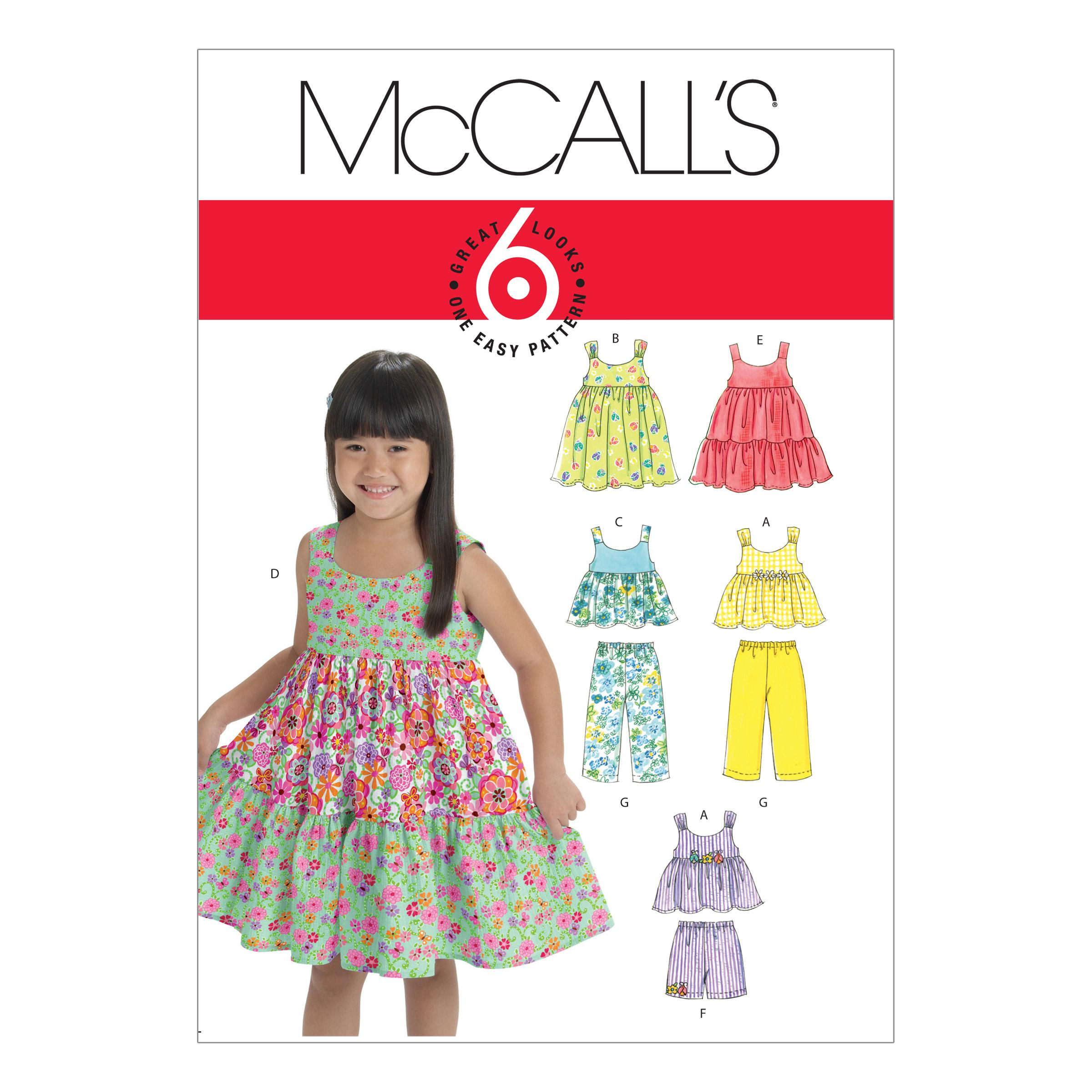 McCalls M6017 Children, Infants/Toddlers