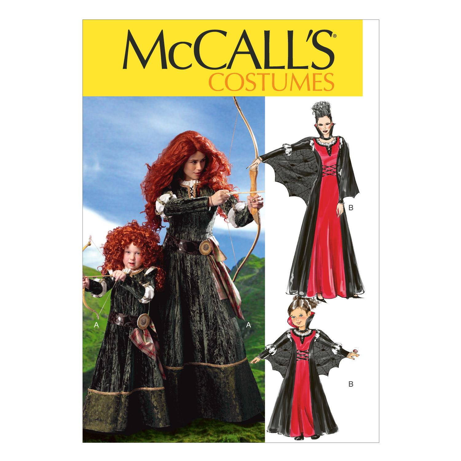 McCalls M6817 Costumes, Dresses, Halloween