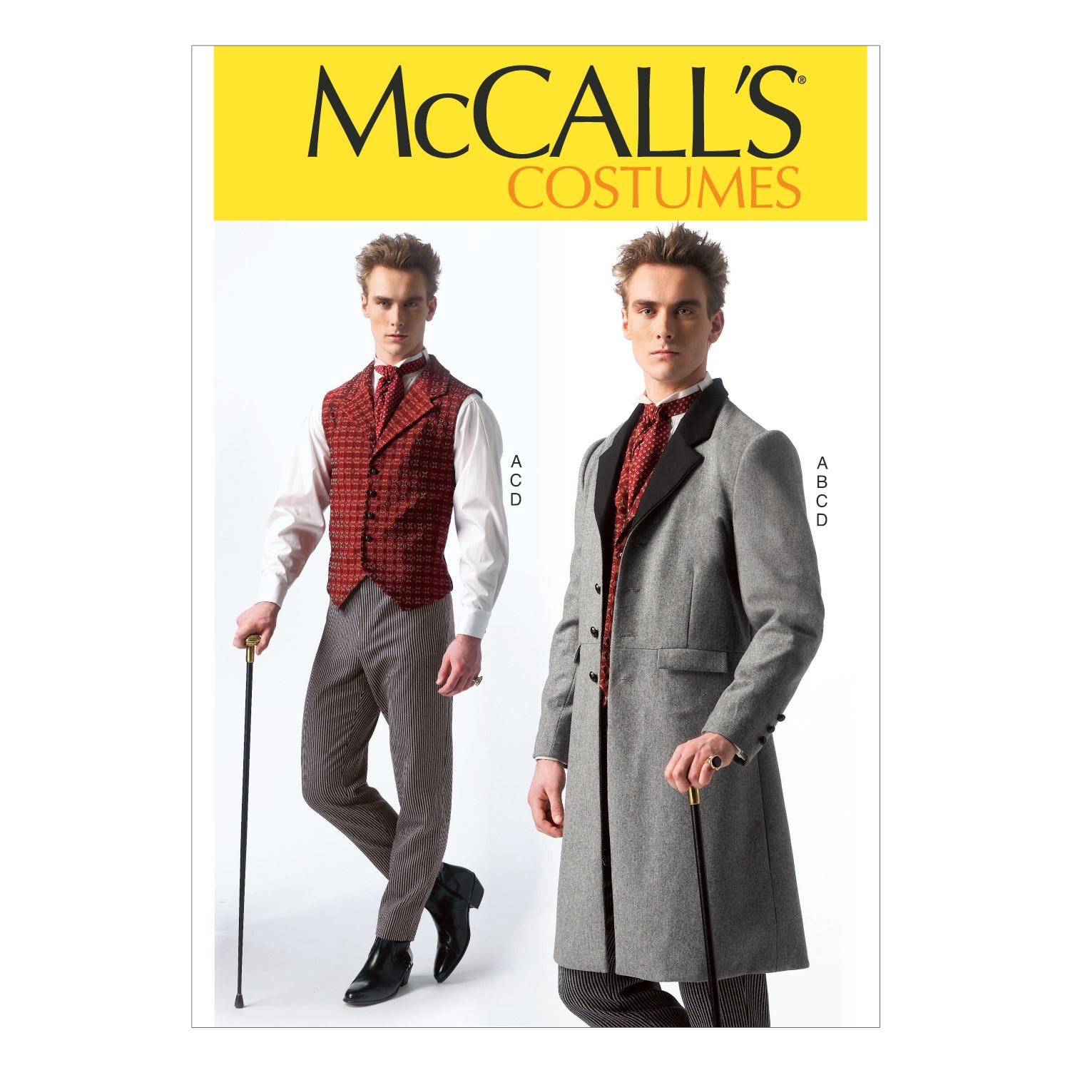 McCalls M7003 Accessories, Coats, Costumes, Halloween, Pants, Vests
