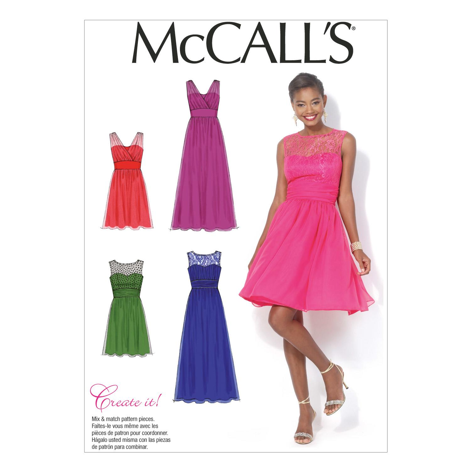 McCalls M7090 Dresses, Evening/Prom, Plus Size
