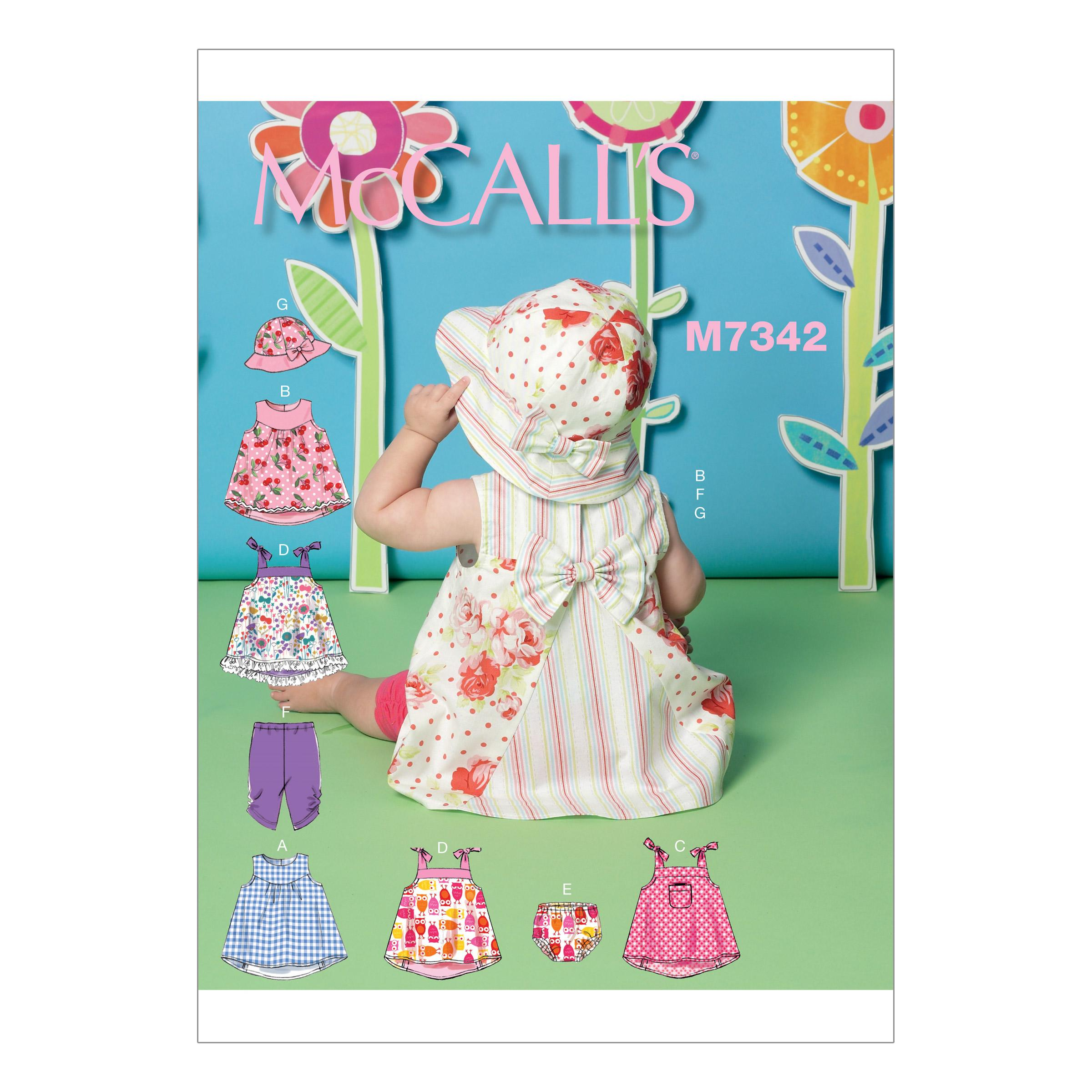 McCalls M7342 Infants/Toddlers