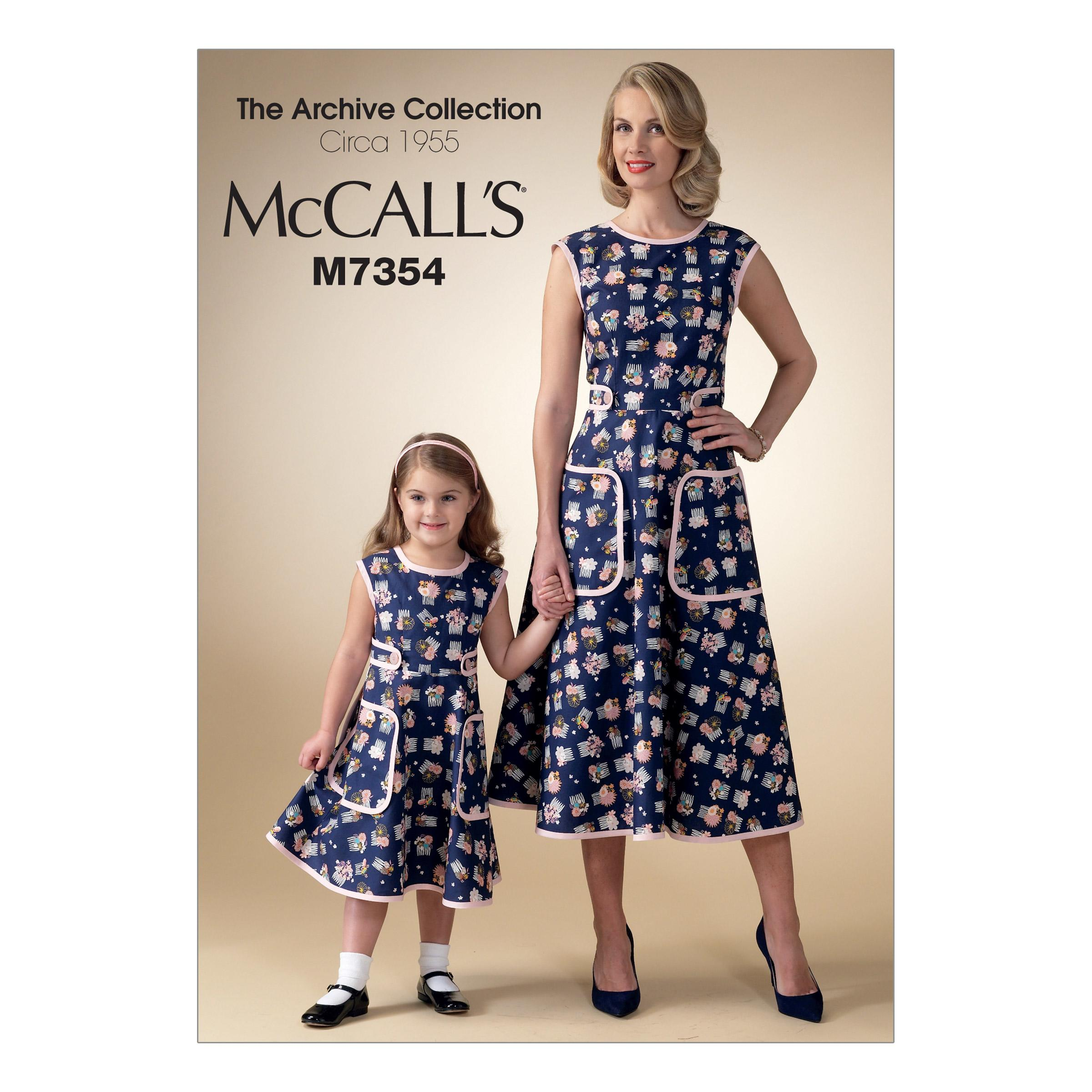 McCalls M7354 Children, Dresses, Girls/Boys, The Archive Collection