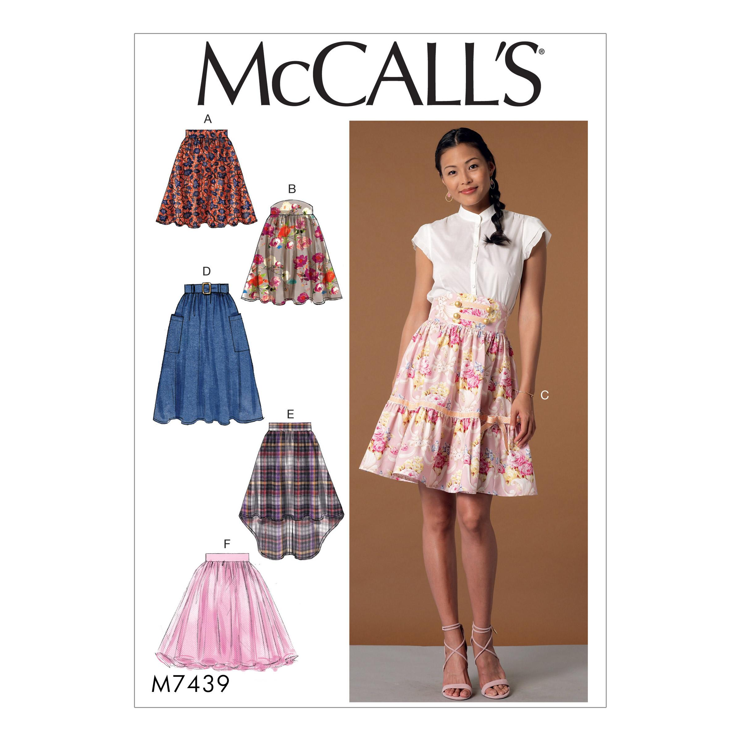 McCalls M7439 Misses Skirts