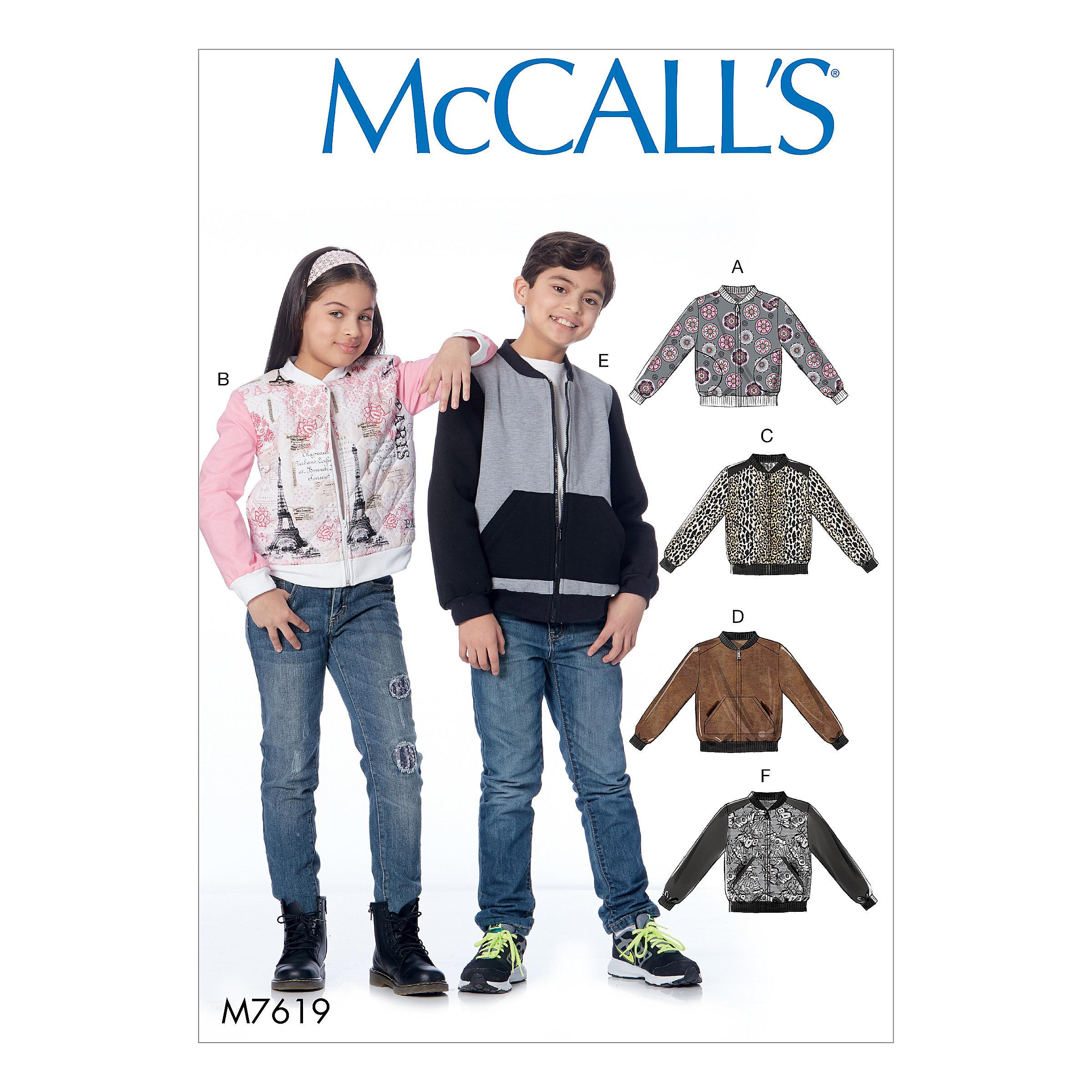 McCalls M7619 Kids Girls & Boys, Kids Children