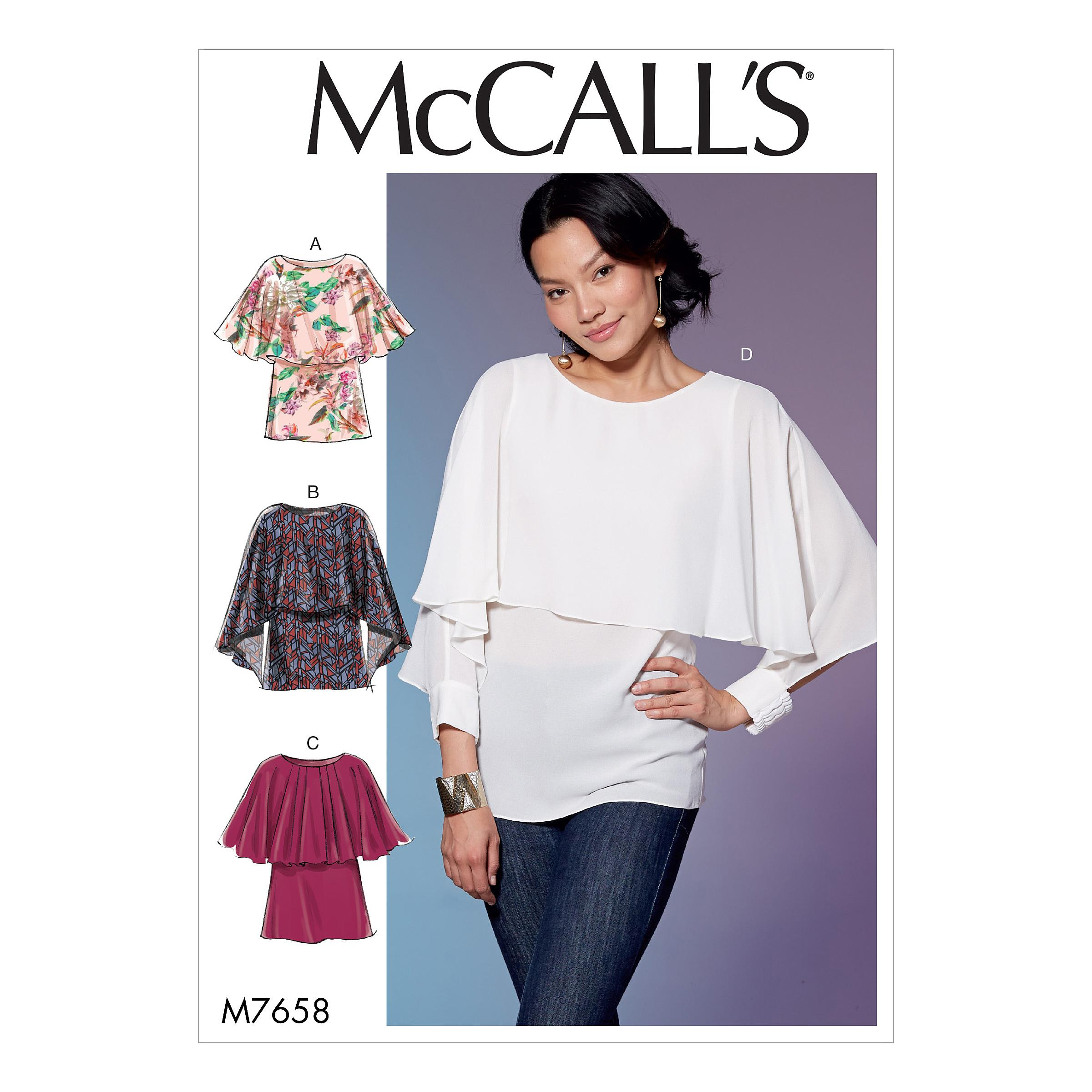 McCalls M7658 Misses Tops