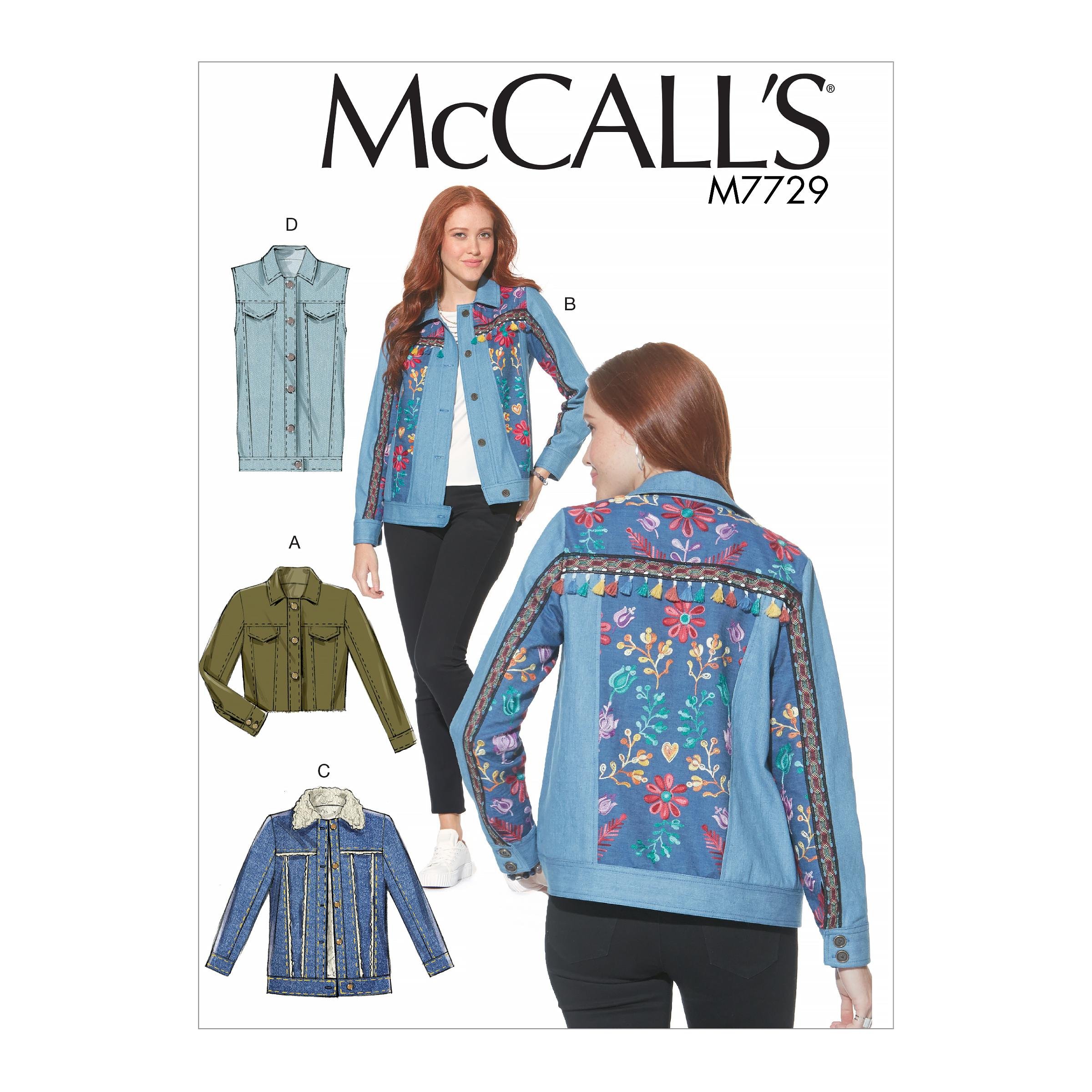 McCalls M7729 Misses Jackets & Vests