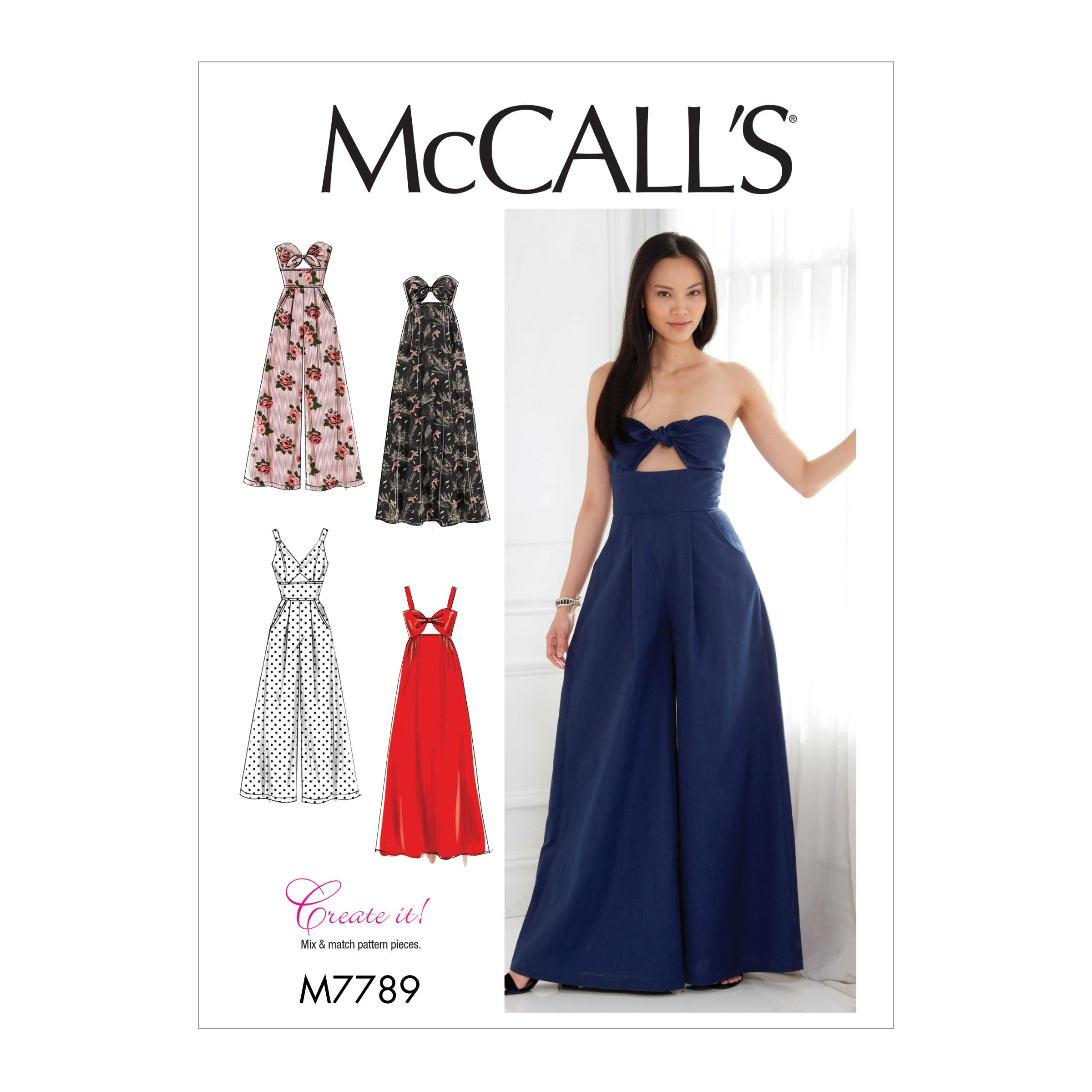 McCalls M7789 Misses Dresses, Misses Pants, Jumpsuits & Shorts