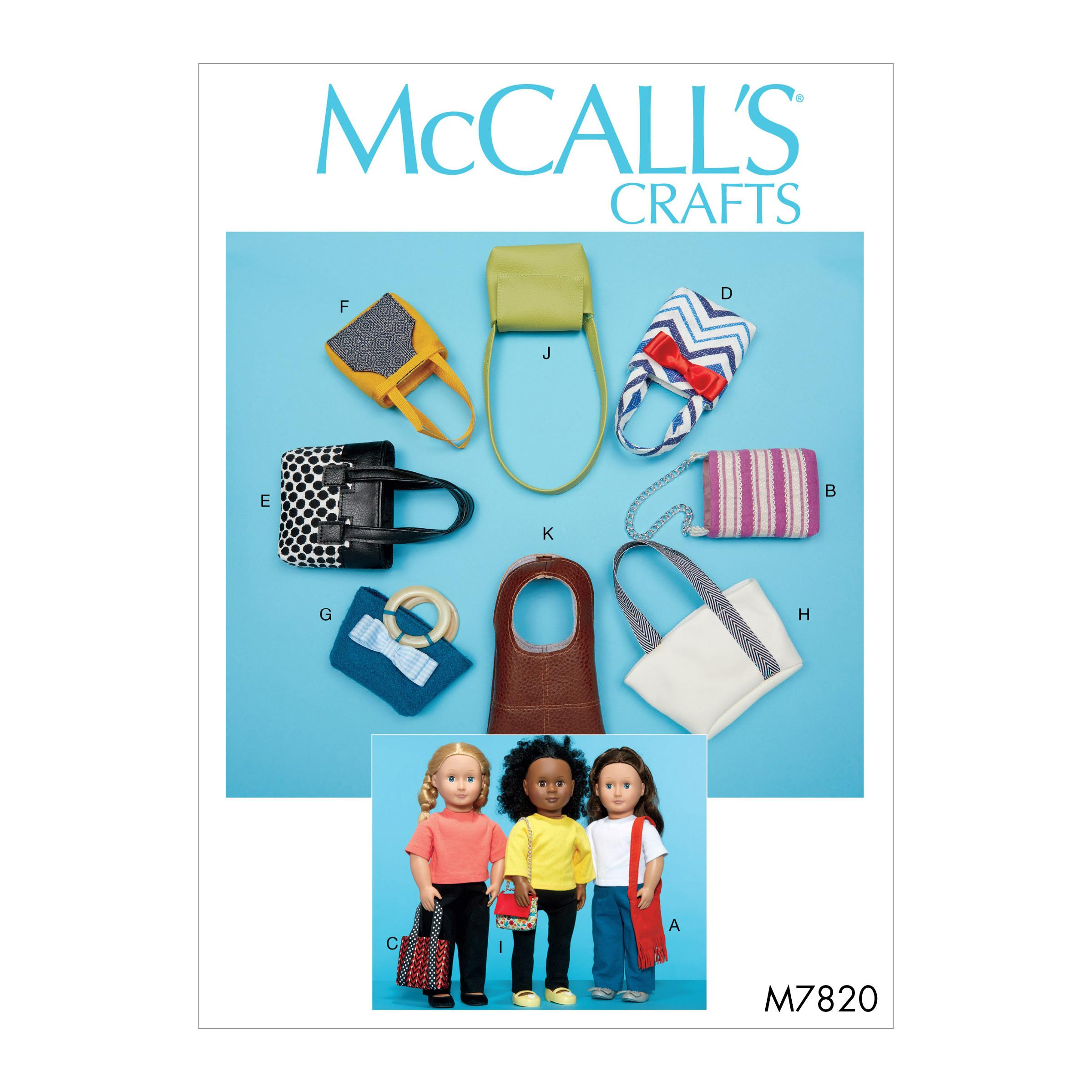 McCalls M7820 Crafts Dolls & Toys