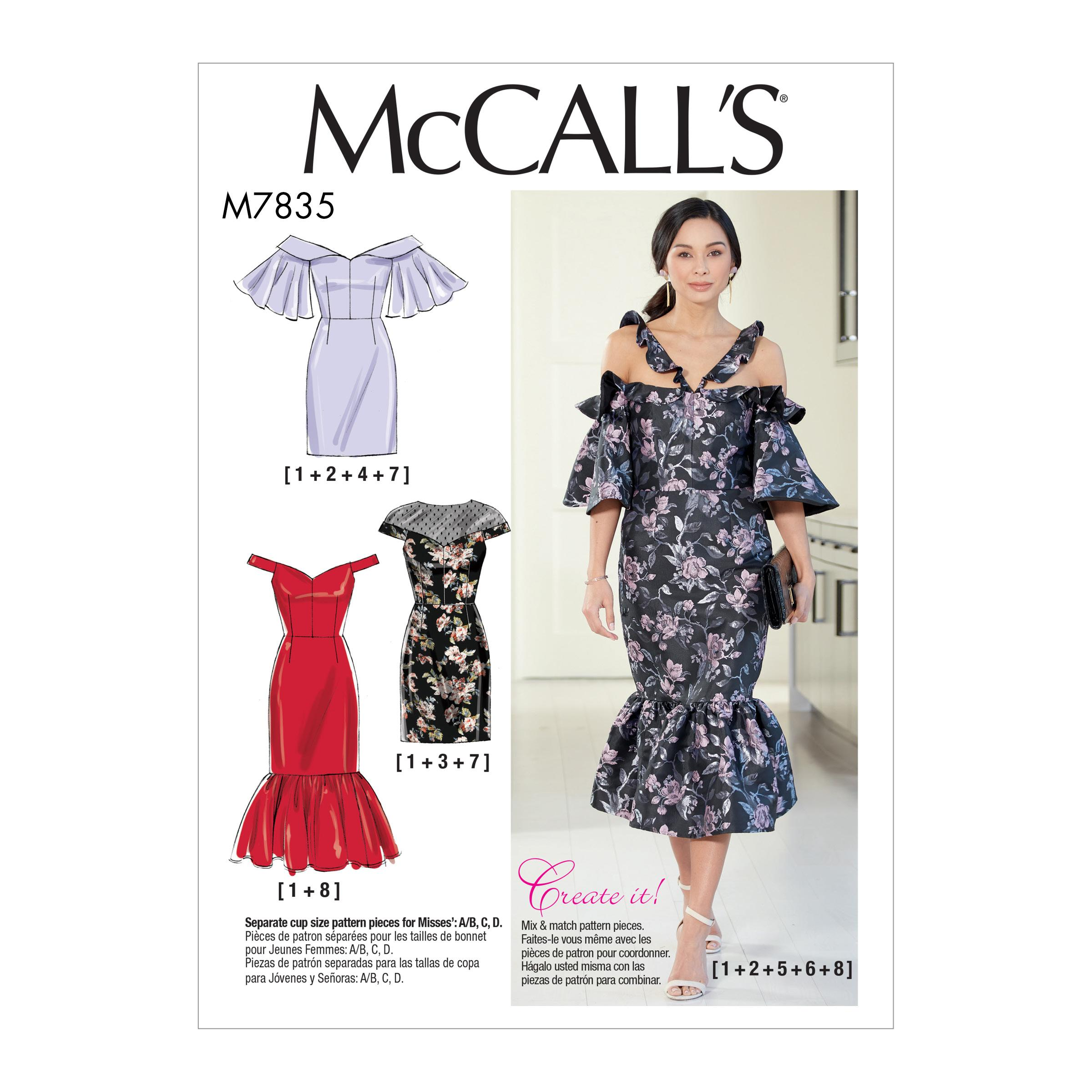 McCalls M7835 Misses Dresses, Misses Prom, Evening & Bridal