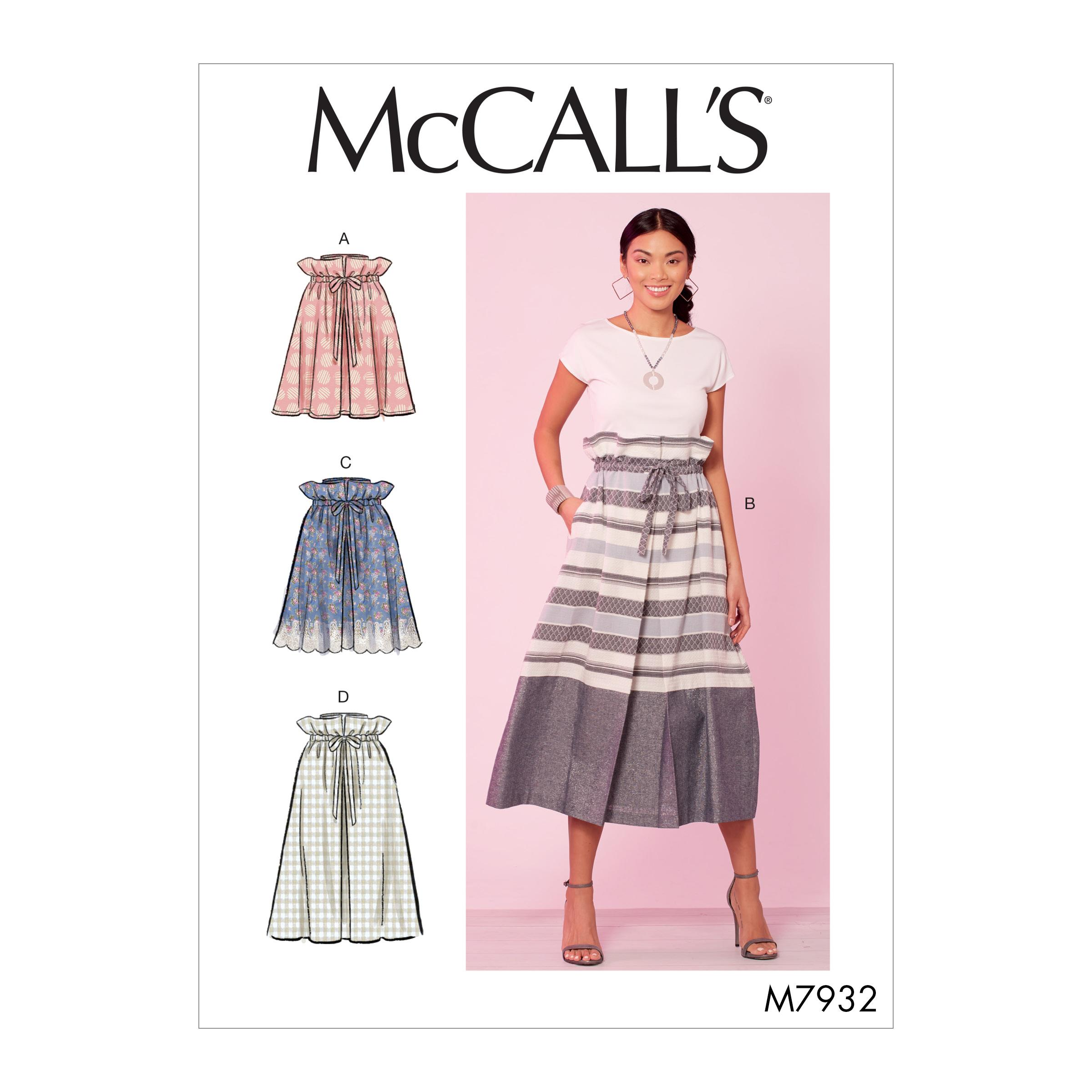 McCalls M7932 Misses Skirts