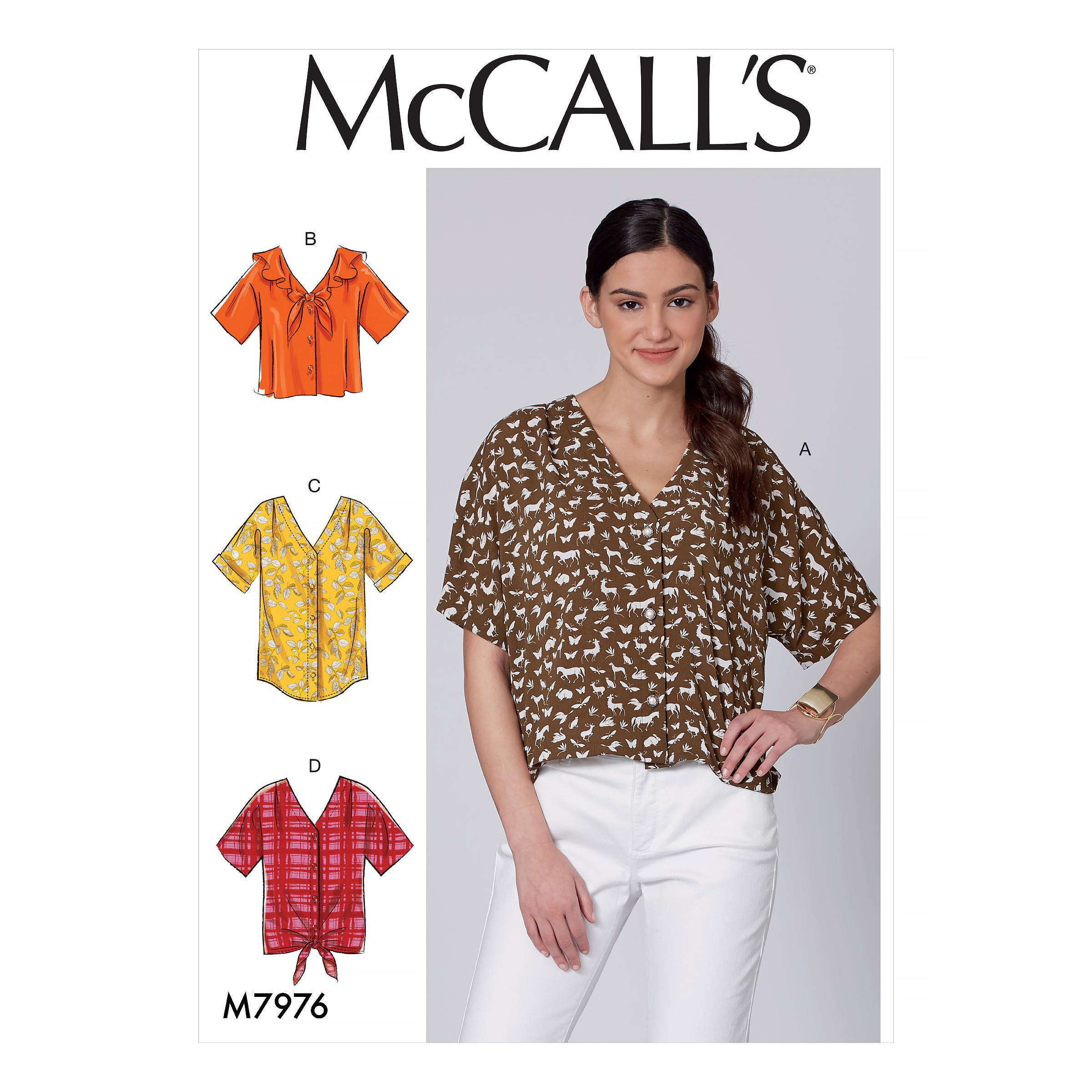 McCalls M7976 Misses Tops