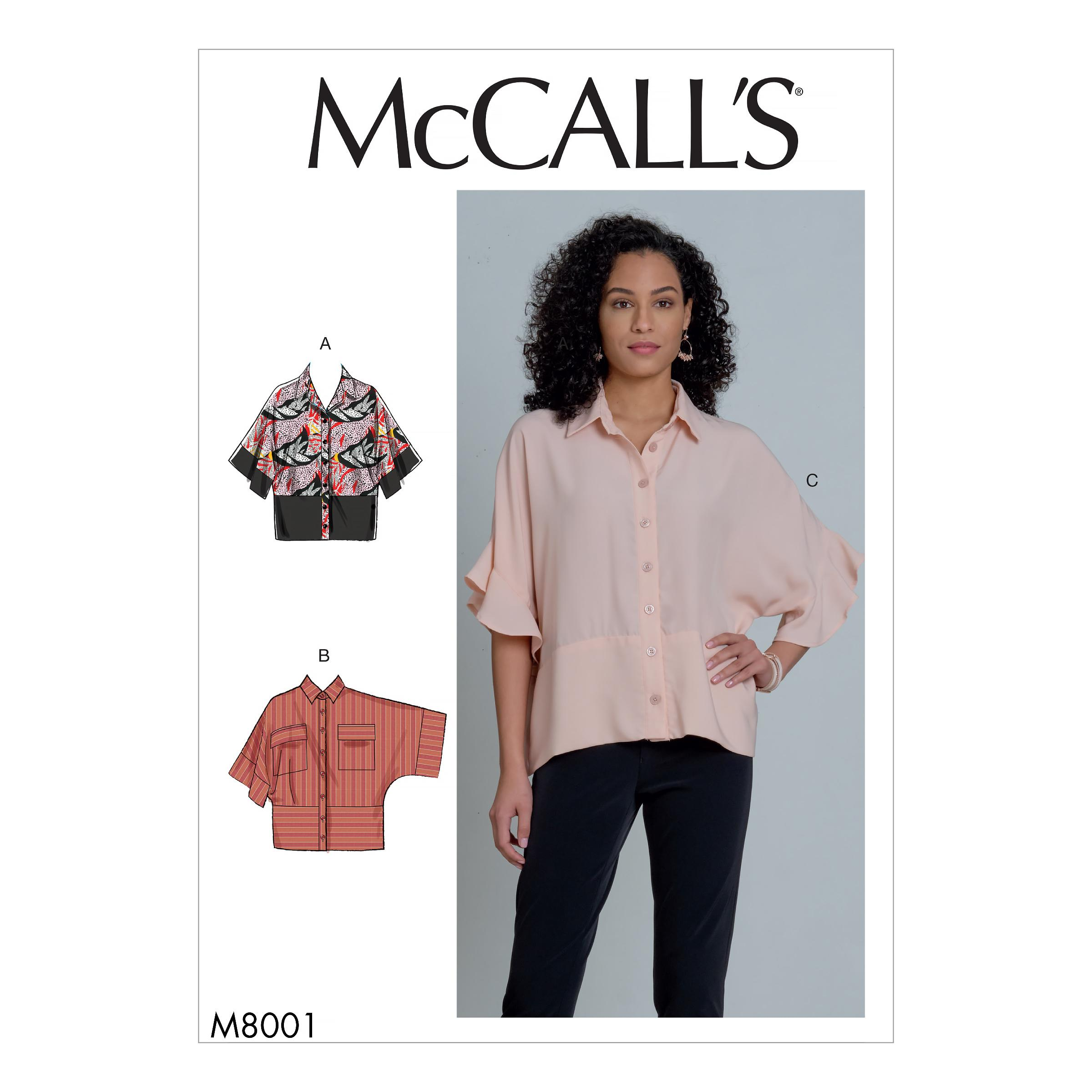 McCalls M8001 Misses Tops
