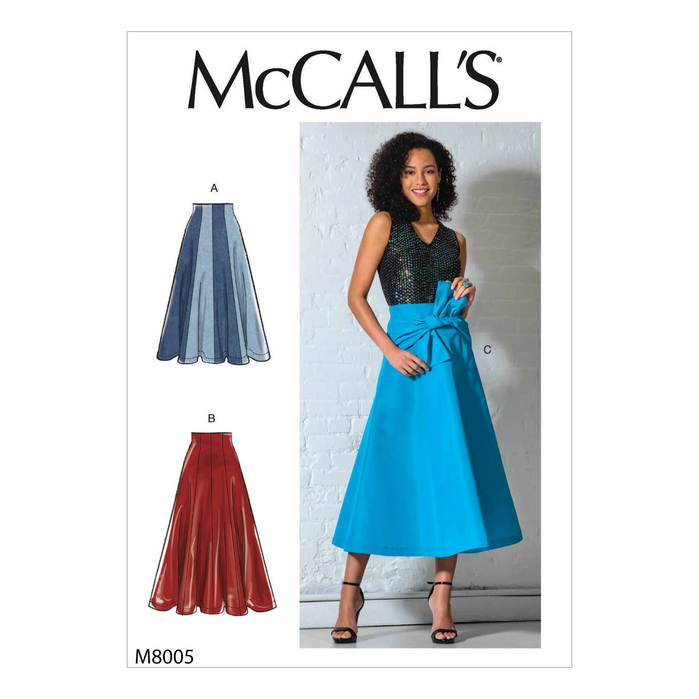 McCalls M8005 Misses Skirts, Misses Prom, Evening & Bridal