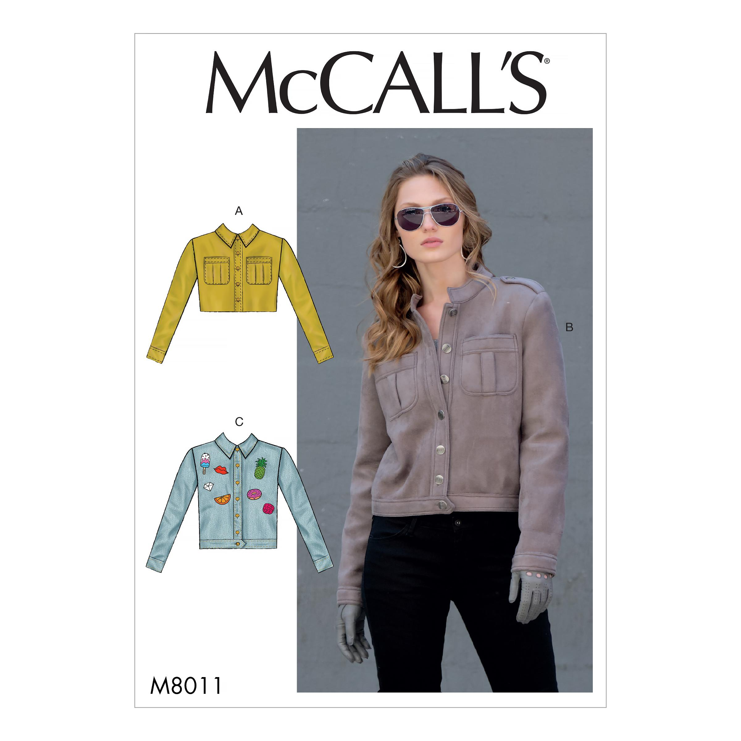 McCalls M8011 Misses Jackets & Vests