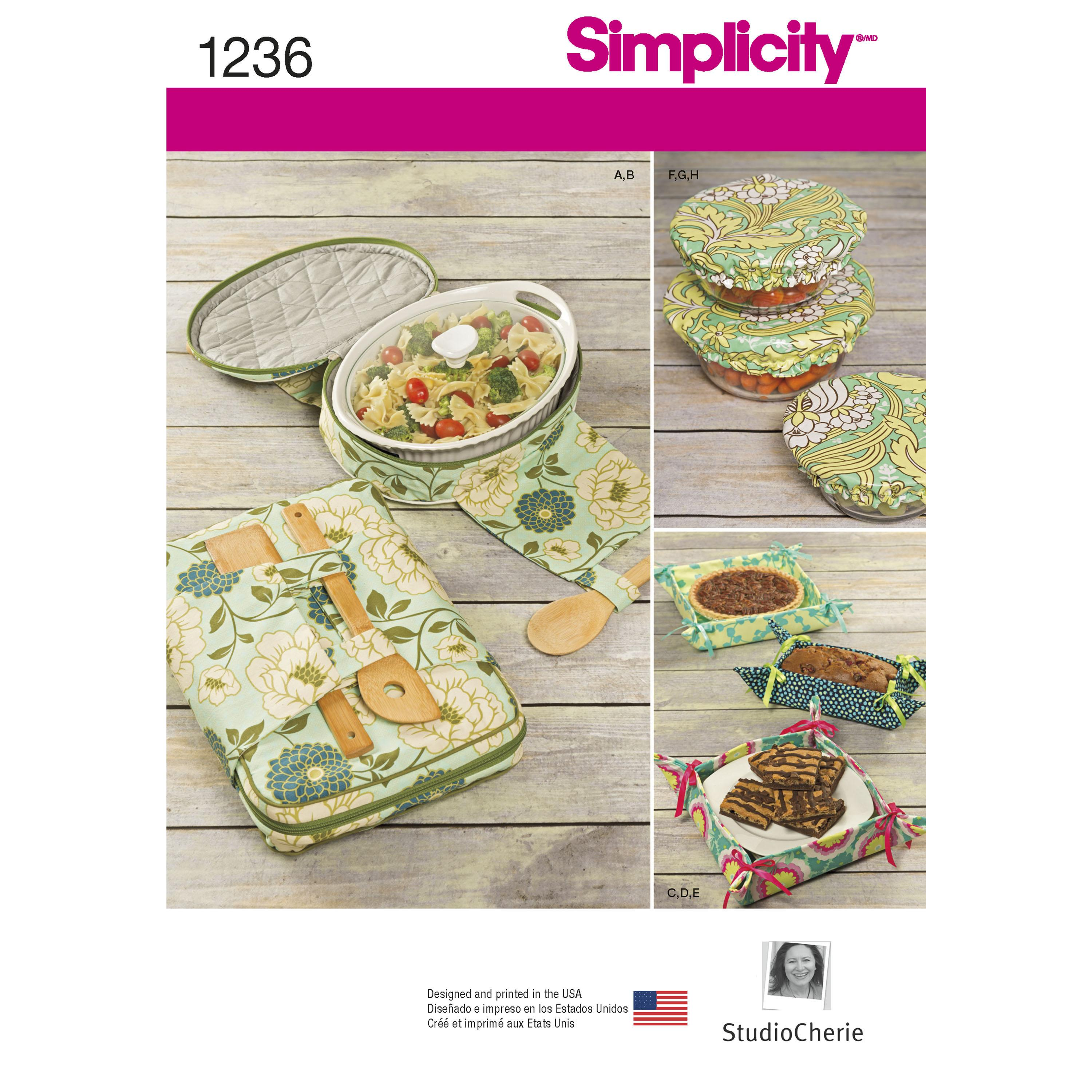 Simplicity S1236 Casserole Carriers, Gifting Baskets and Bowl Covers