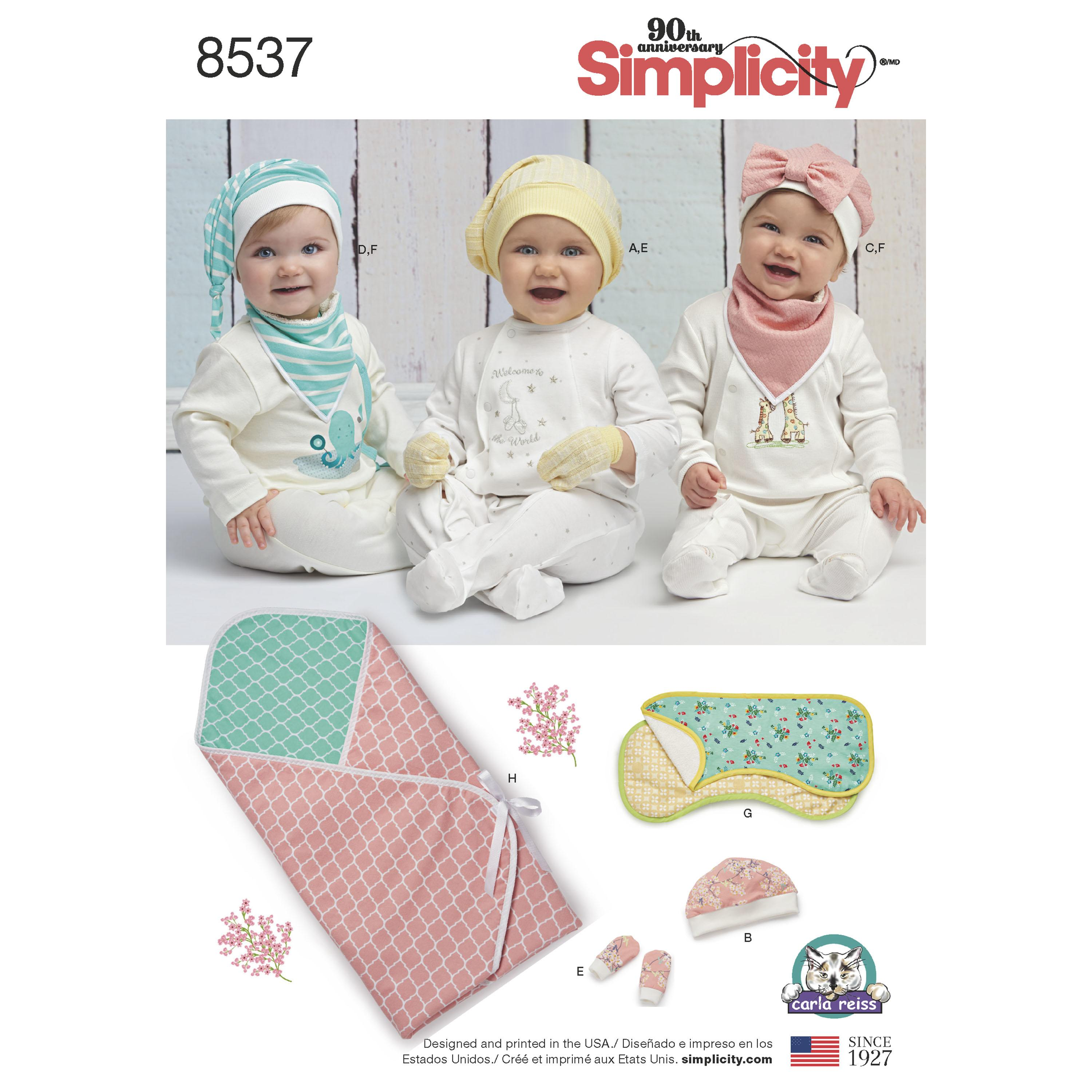 Simplicity S8537 Baby Accessories