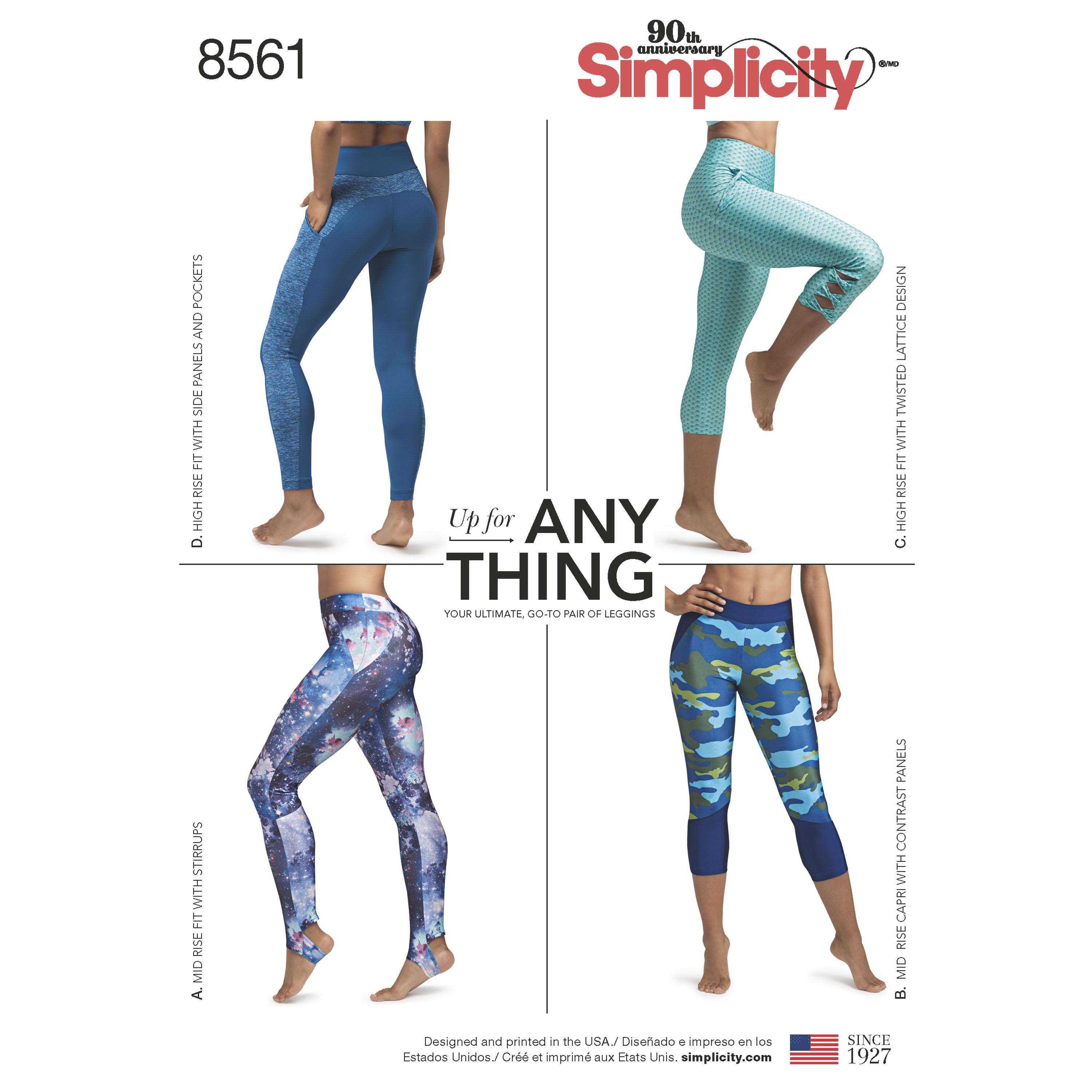 Simplicity S8561 Womens Leggings