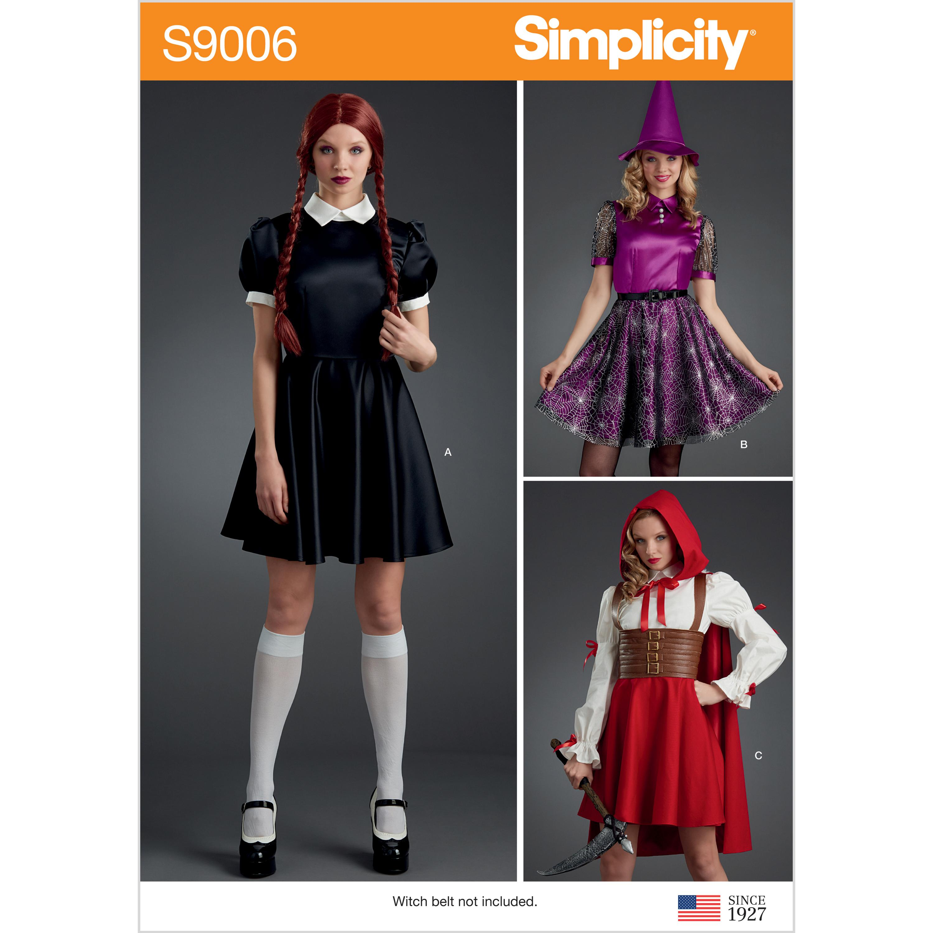 Simplicity S9006 Misses' Halloween Costumes