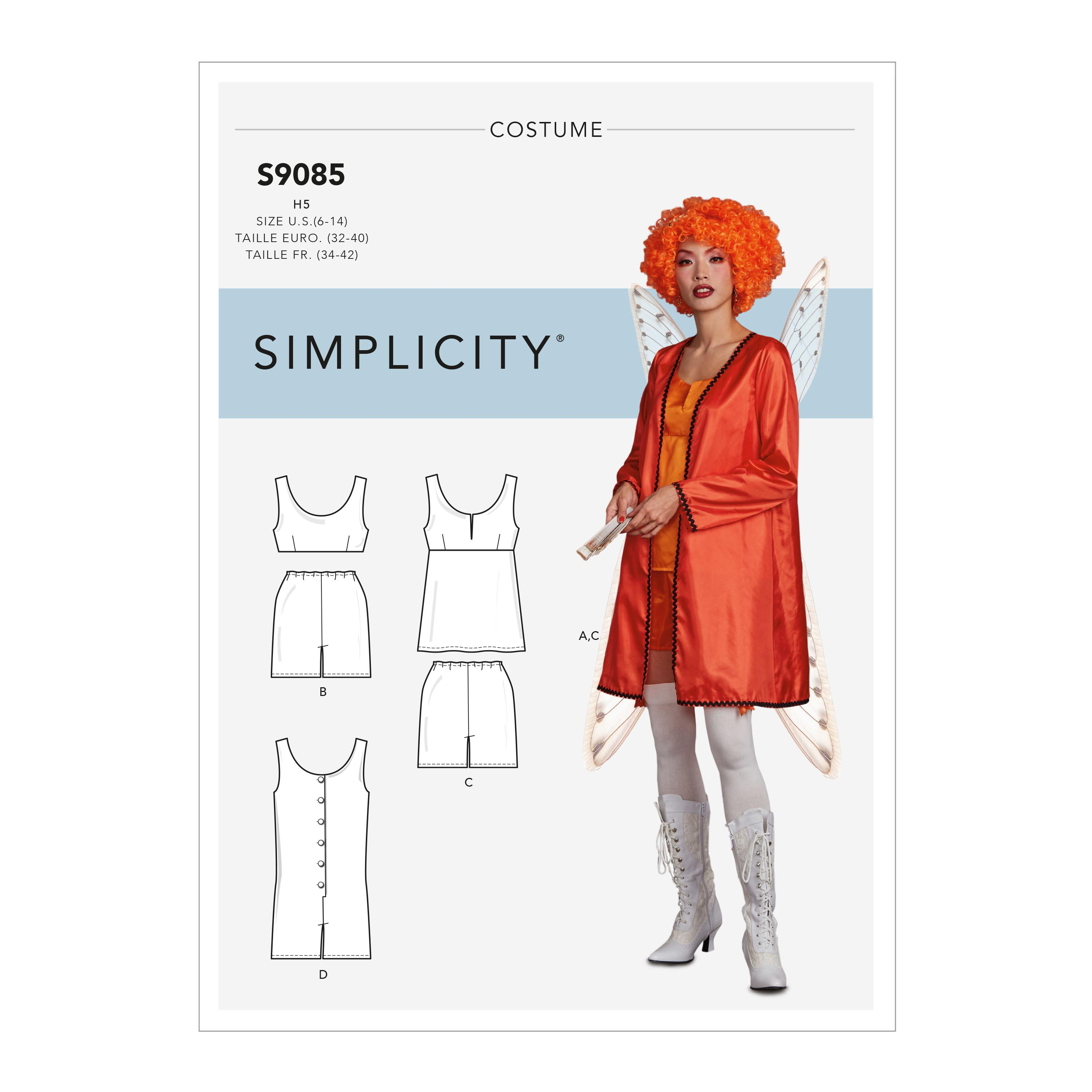Simplicity S9085 Misses' Historical Costume Robe, Tops, Bottoms & Rompers