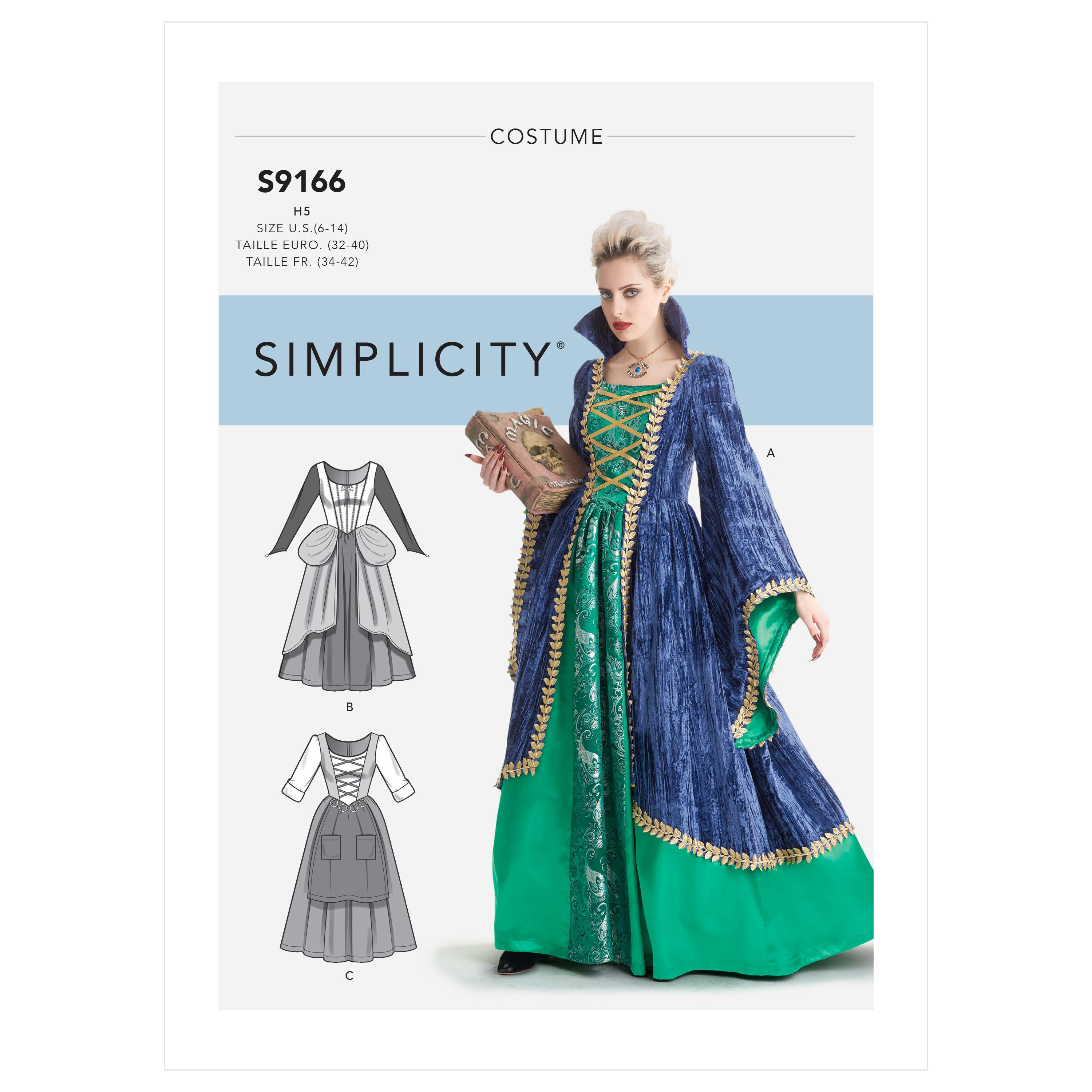 Simplicity S9166 Misses' Costumes