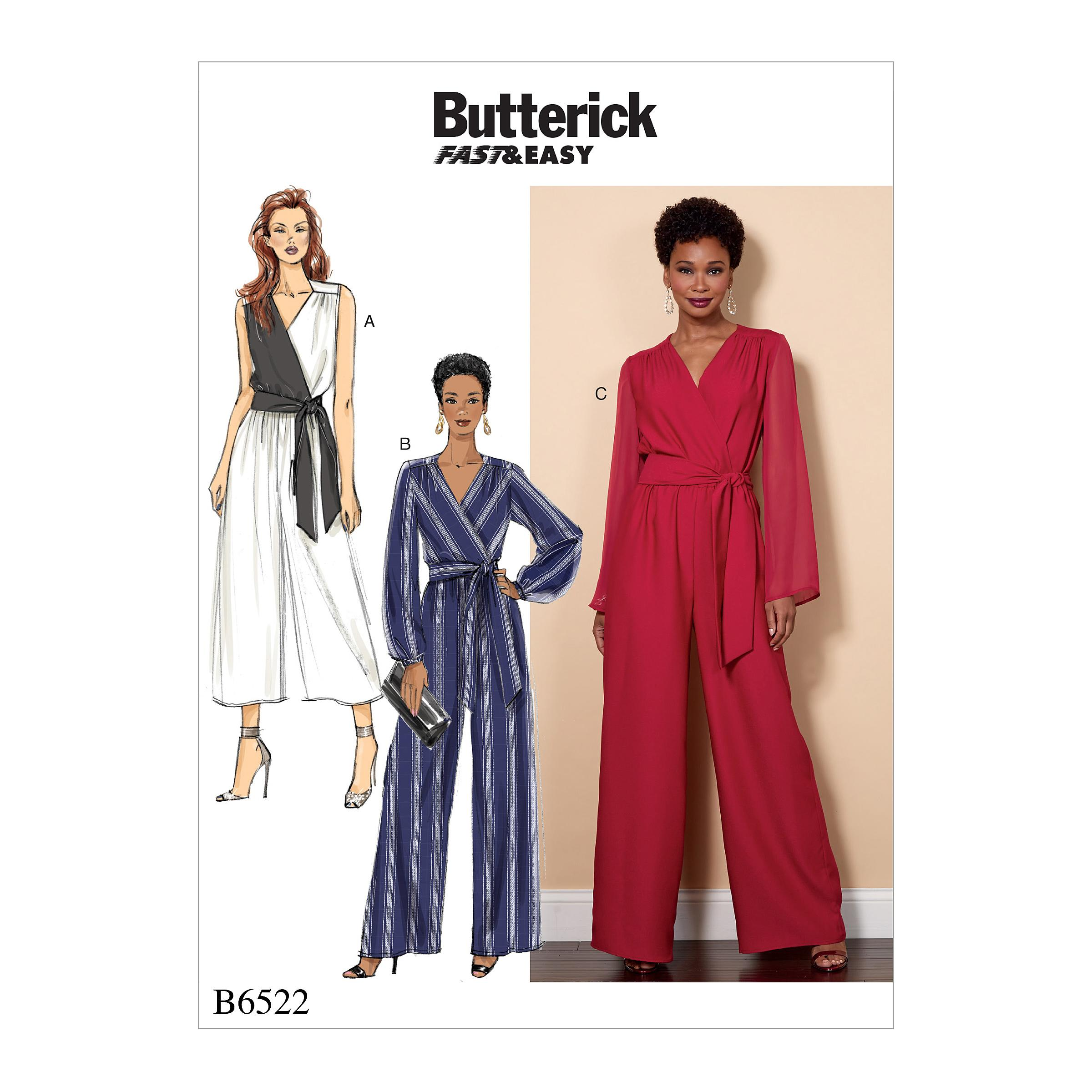 Butterick B6522 Misses'/Women's Jumpsuit and Sash