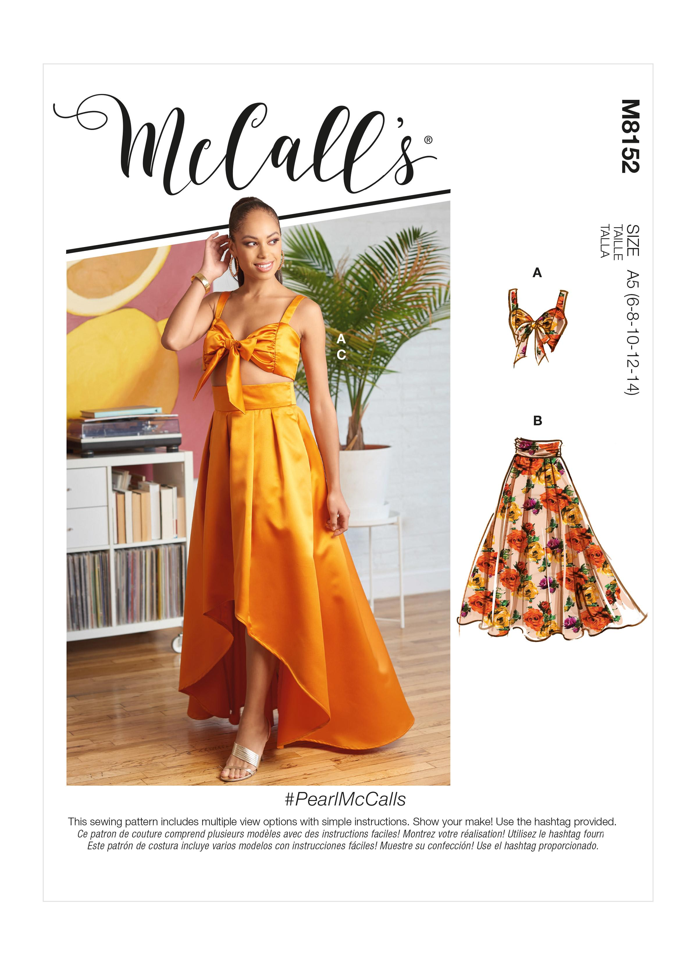 McCall's M8152 #PearlMcCalls - Misses' Top & Skirts