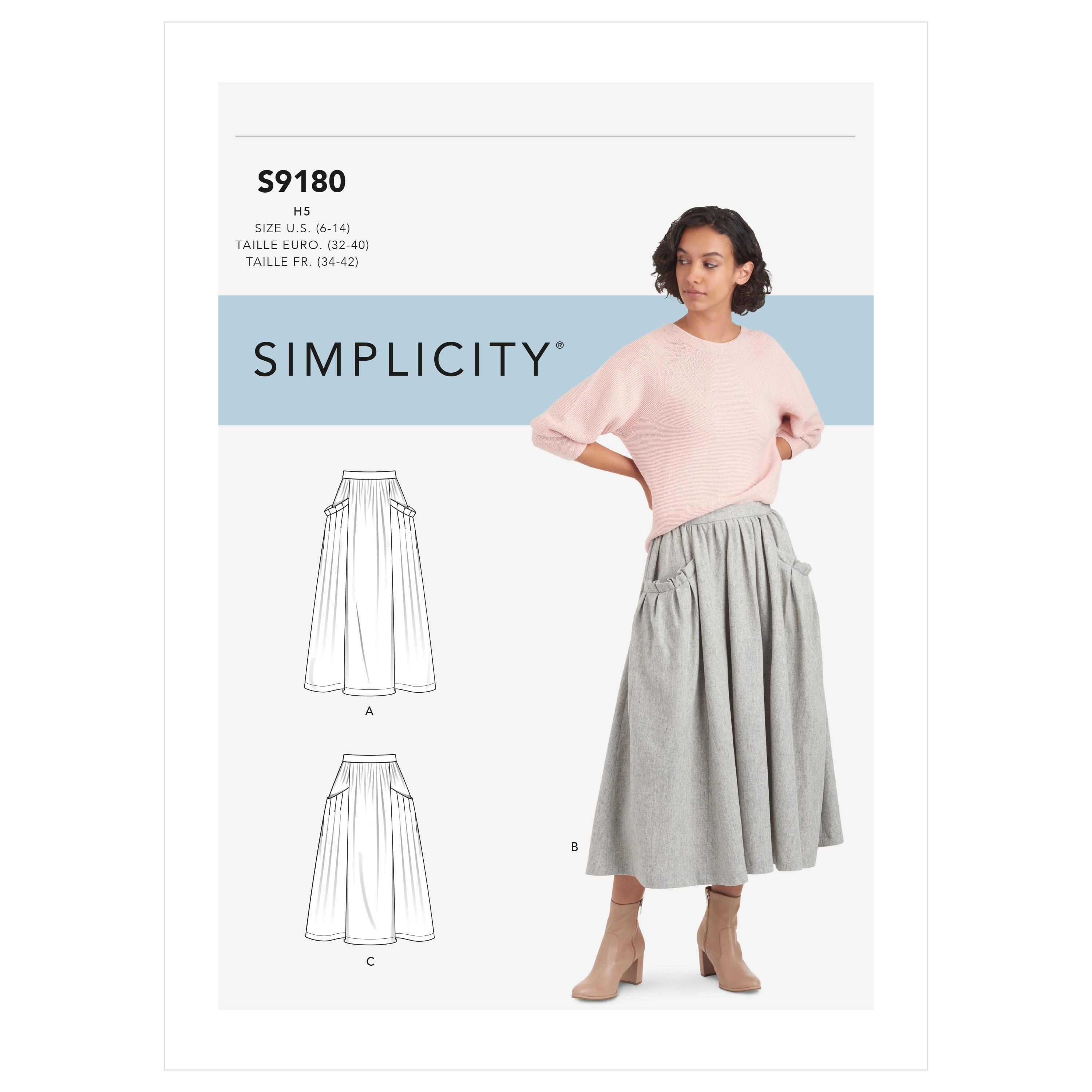 Simplicity Sewing Pattern S9180 Misses' Skirts