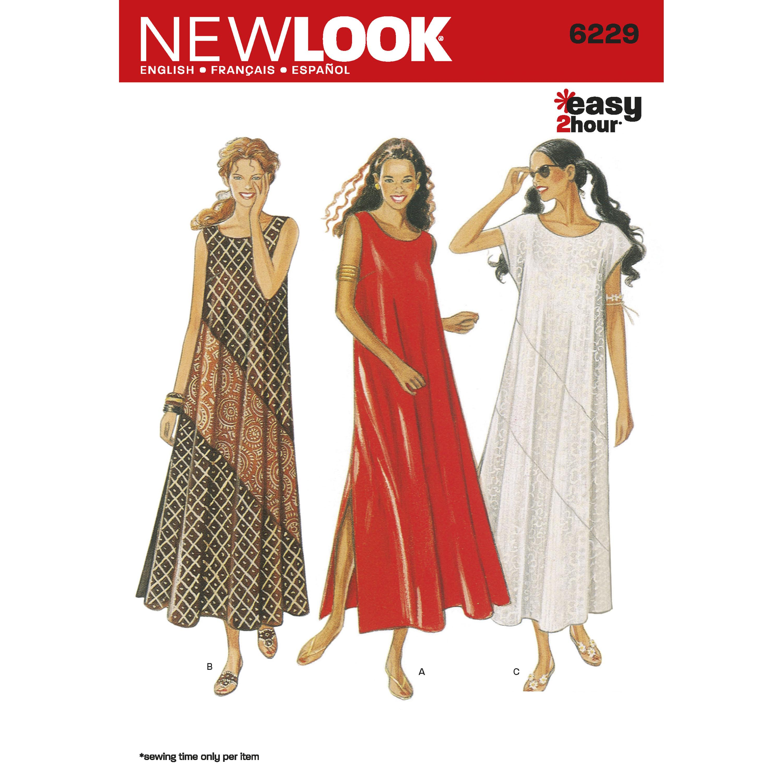 NewLook N6229 Misses Dresses